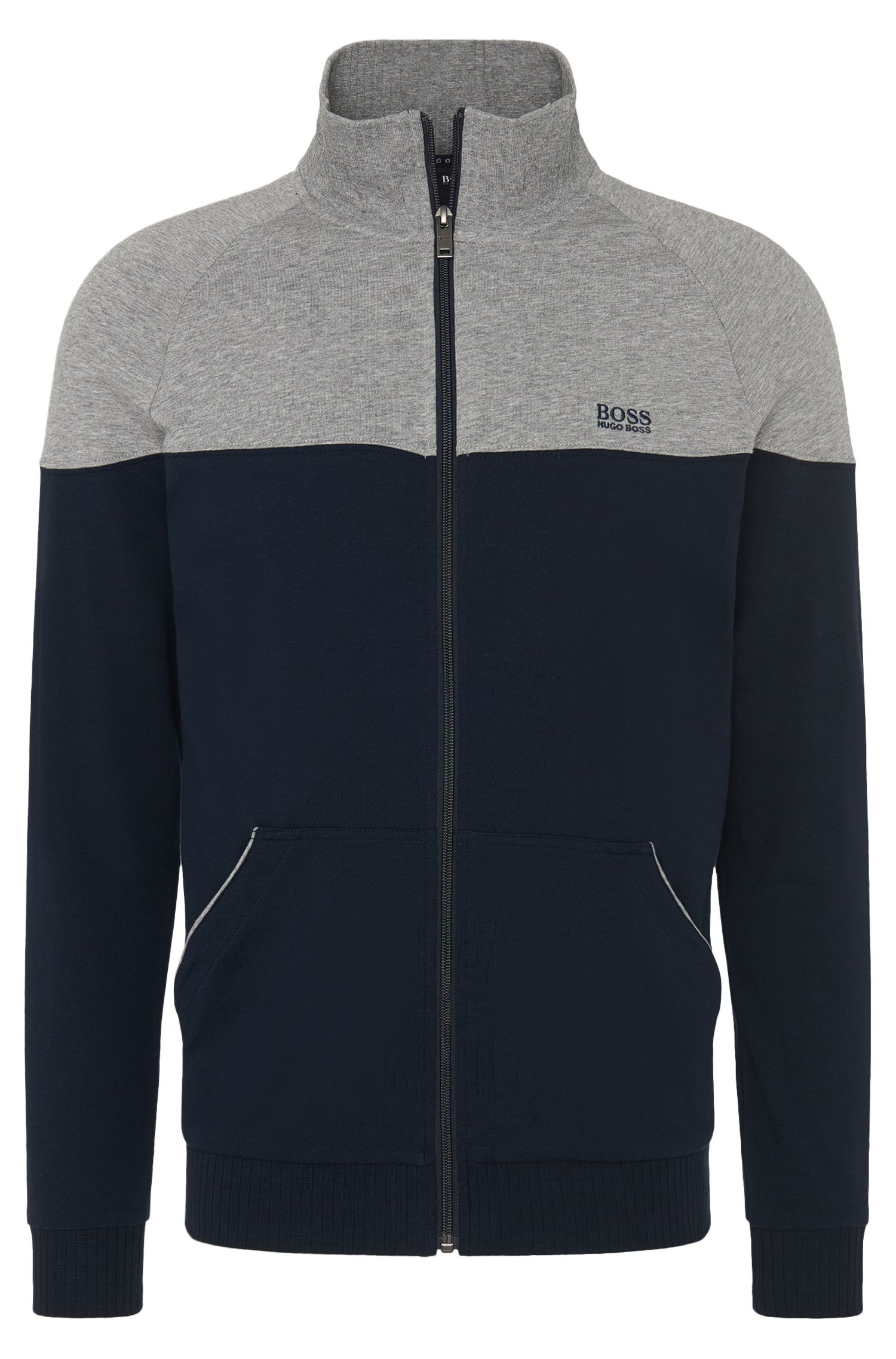 Blouson sweat bicolore en coton : « Jacket Zip »
