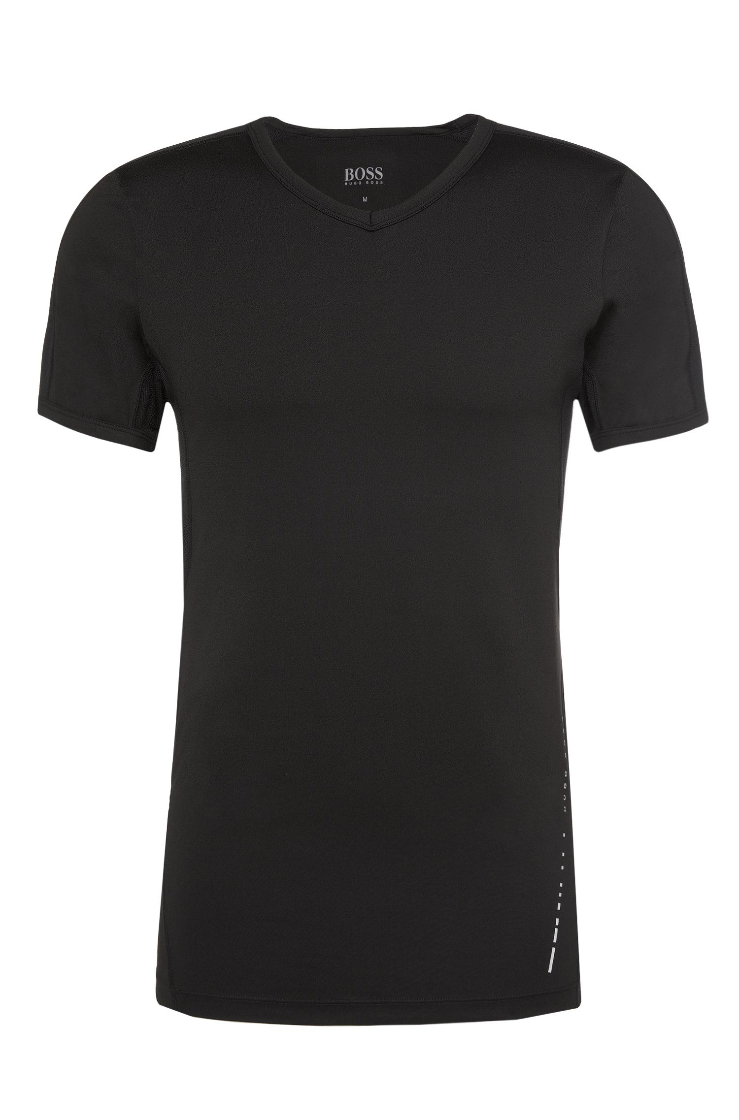 Slim-Fit T-Shirt aus funktionalem Material-Mix: 'T-Shirt VN Micro+'