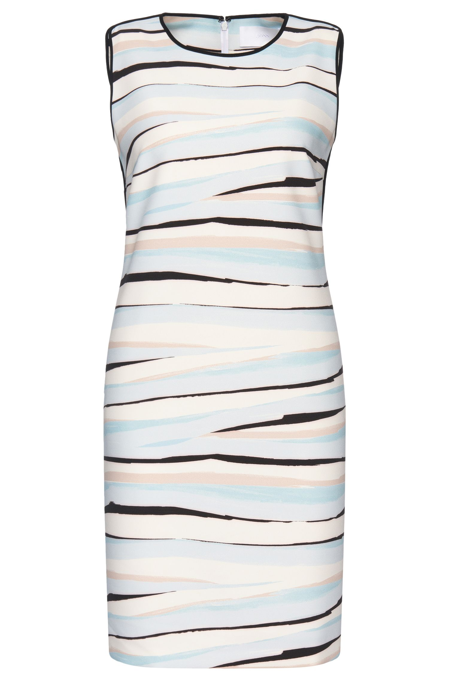 Sleeveless dress with linear pattern: 'Dipinta'