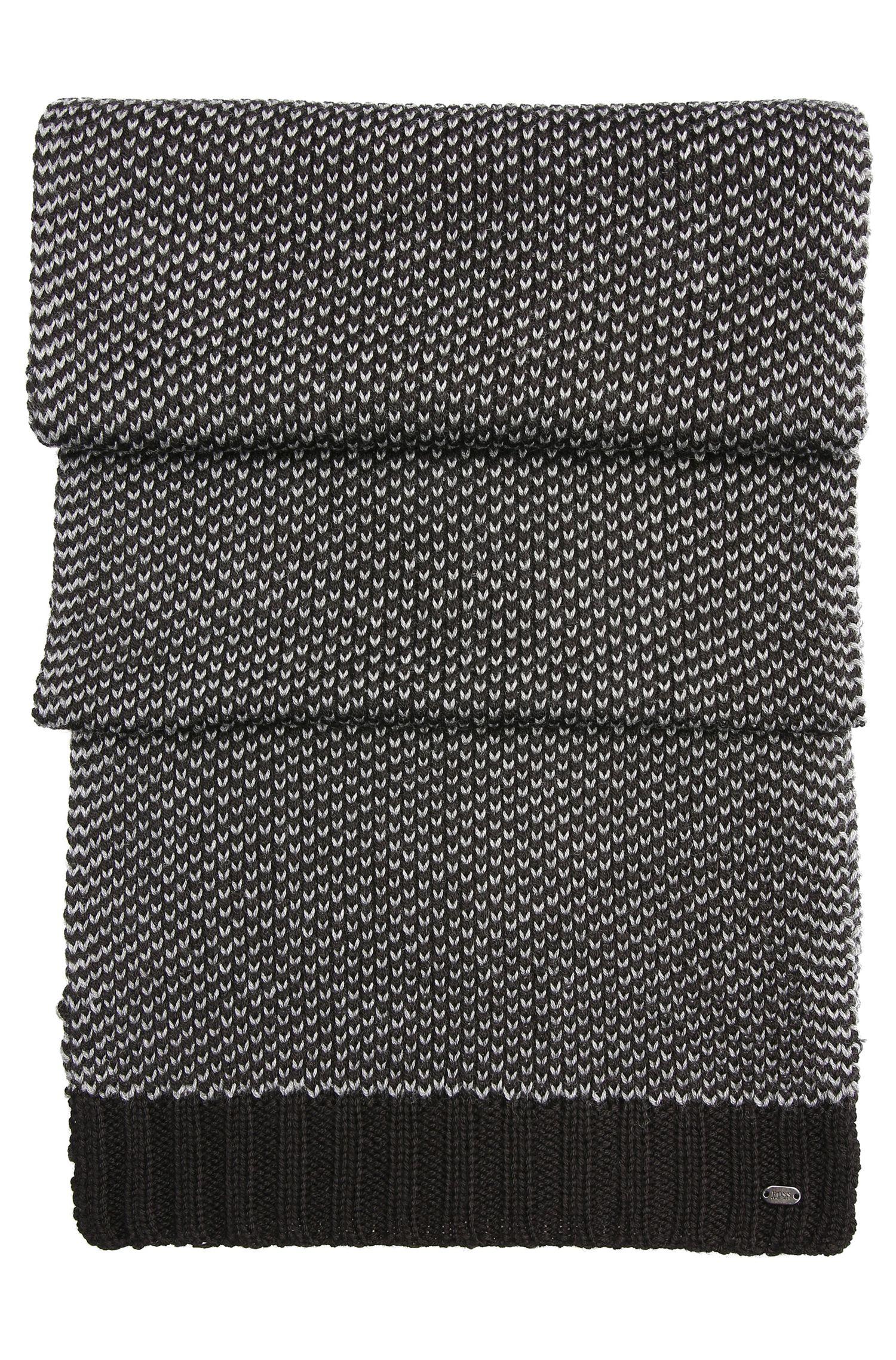 Écharpe en maille de laine mélangée: «Birdseye-Scarf»
