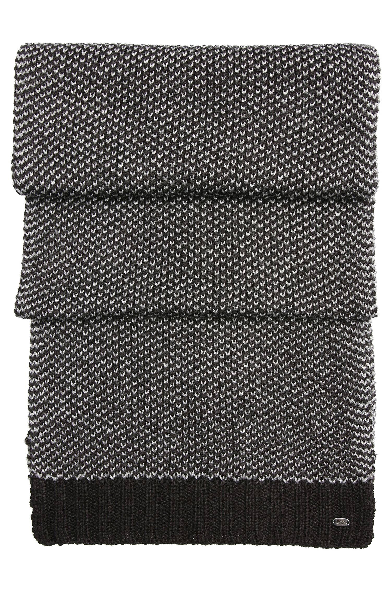 Chal de punto con mezcla de lana: 'Birdseye-Scarf'