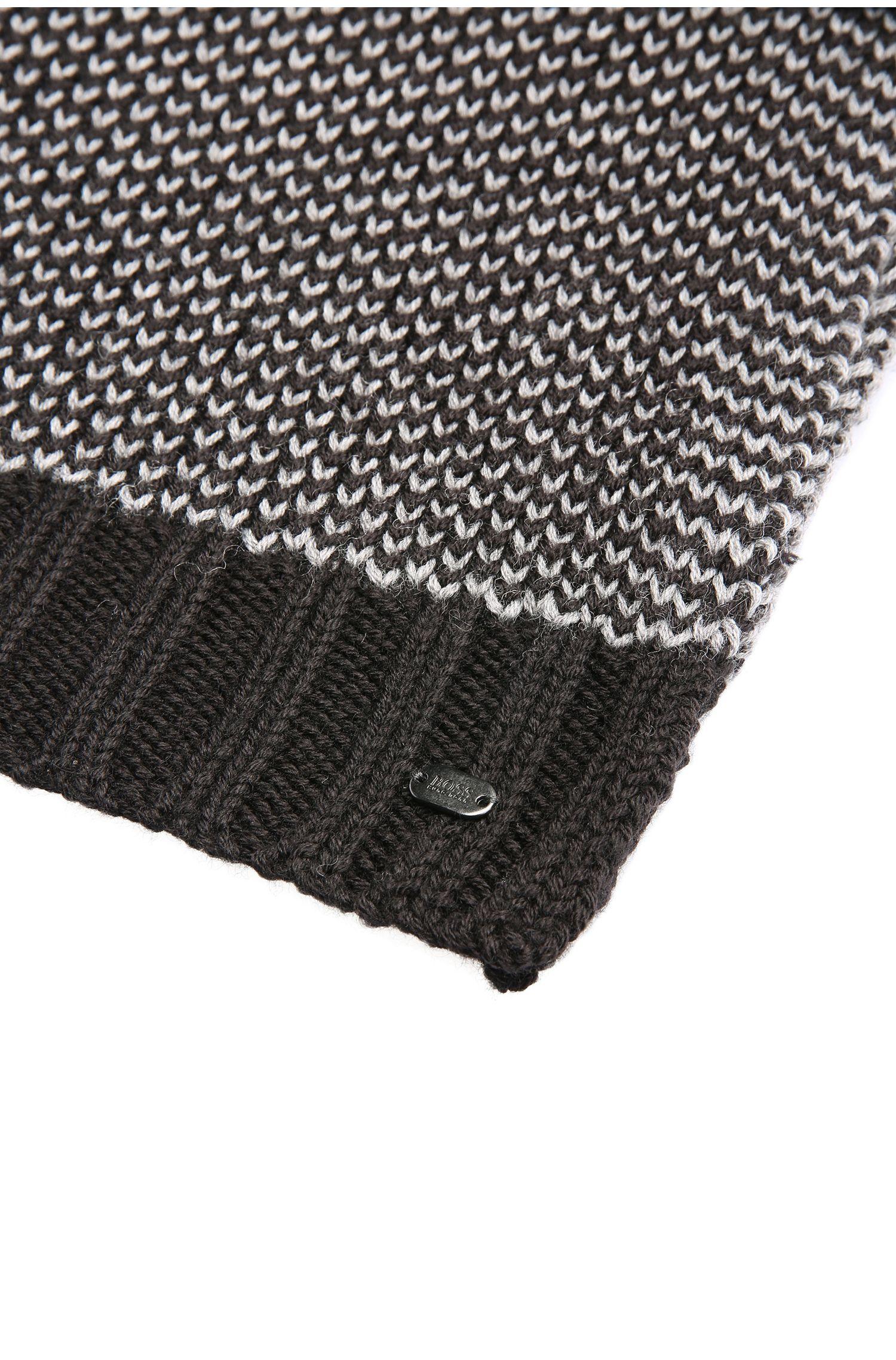 Strick-Schal aus Woll-Mix: ´Birdseye-Scarf`