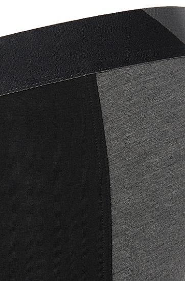 Boxershorts aus elastischem Baumwoll-Mix im zweifarbigen Dessin: 'Cyclist long Comfort', Schwarz
