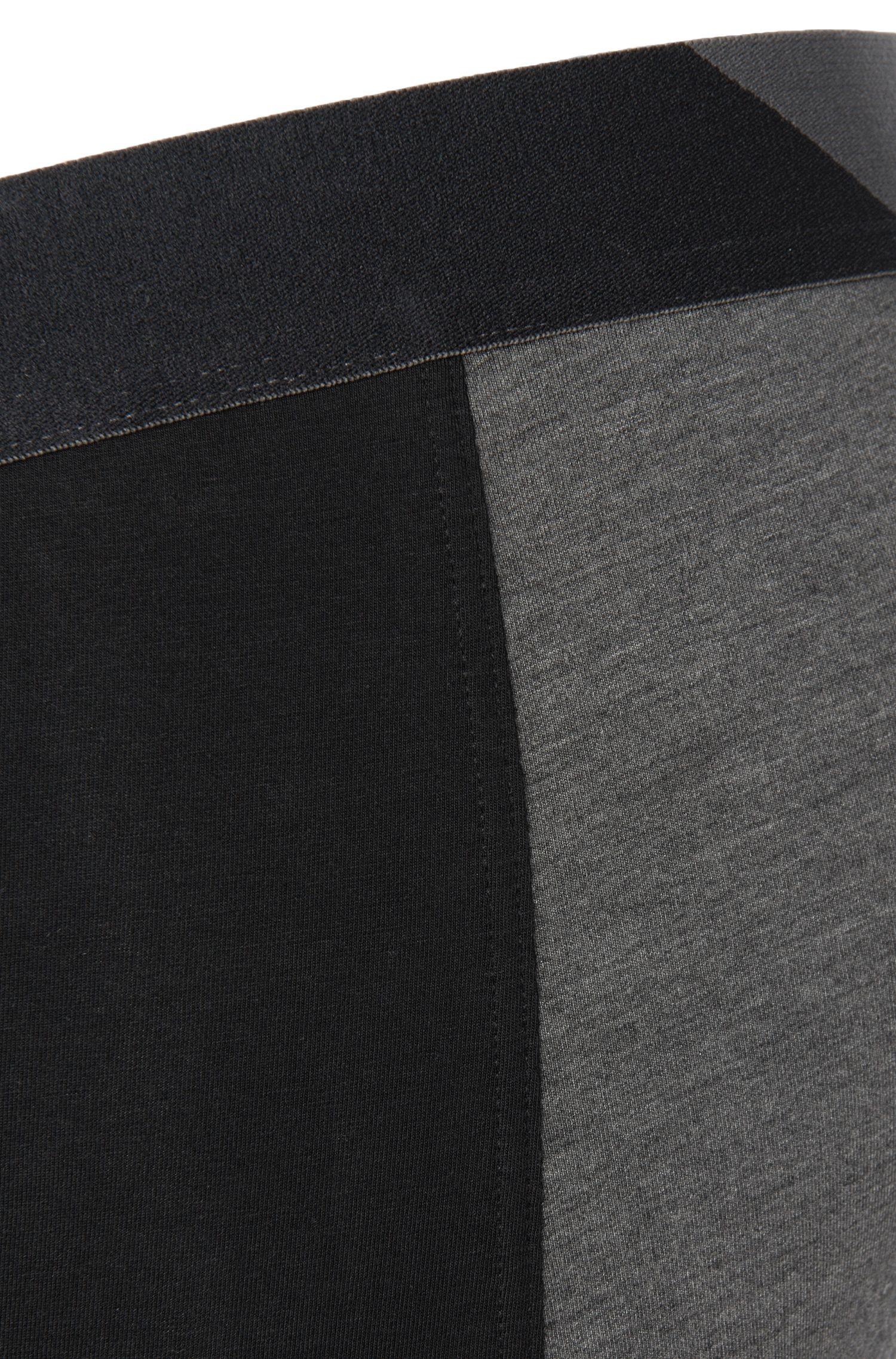 Boxershorts aus elastischem Baumwoll-Mix im zweifarbigen Dessin: 'Cyclist long Comfort'