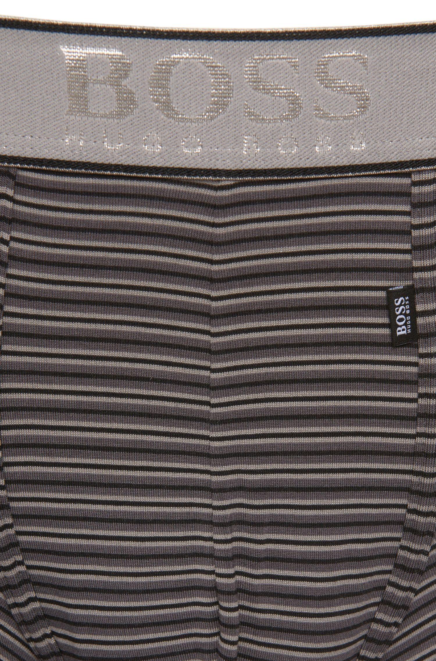 Gestreifte Boxershorts aus elastischem Modal-Mix: 'Boxer Modal stripes'