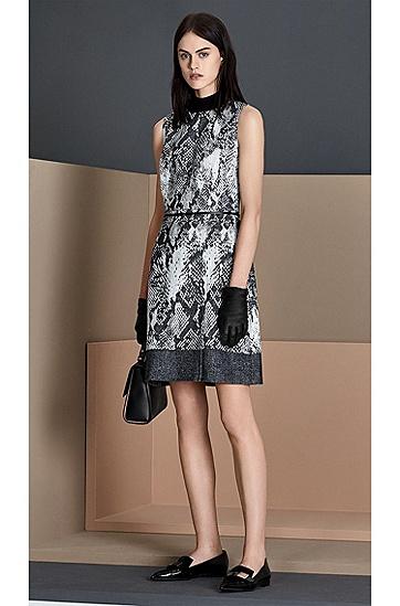 Kleid aus Baumwoll-Mix mit Muster: 'Daneki', Gemustert