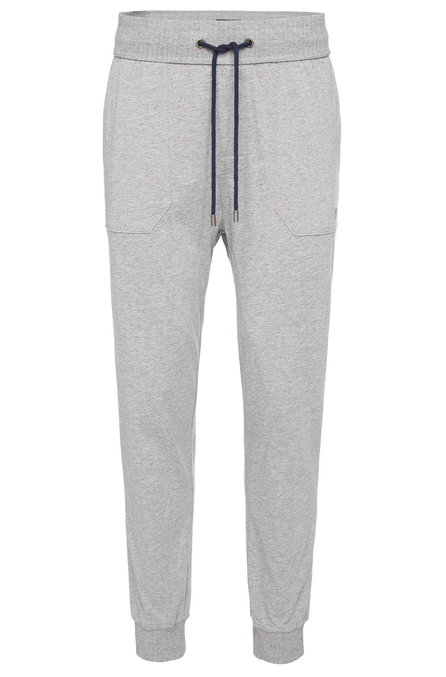 Pyjama bottoms in cotton with a drawstring and elastic waistband: 'Long Pant Cuffs'