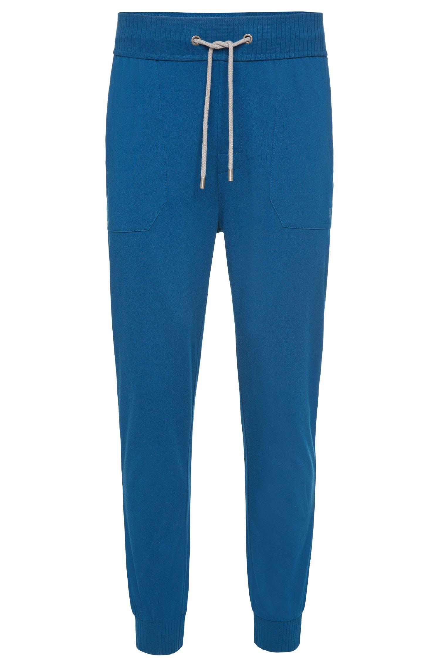 Pyjama-Hose aus Baumwolle mit Tunnelzug und Elastikbund: 'Long Pant Cuffs'