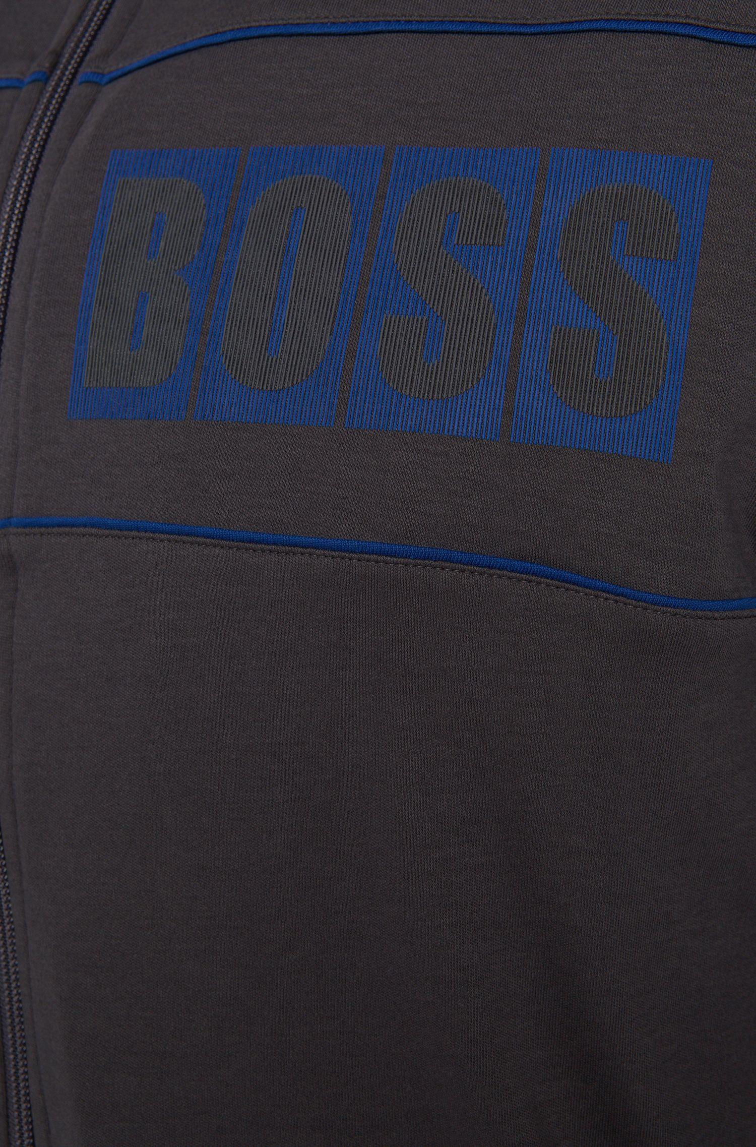 Sweatshirt-Jacke aus Baumwolle mit Kapuze: 'Jacket Hooded'