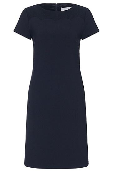 Etui-jurk met gestructureerd inzetstuk: 'Danuni', Lichtblauw