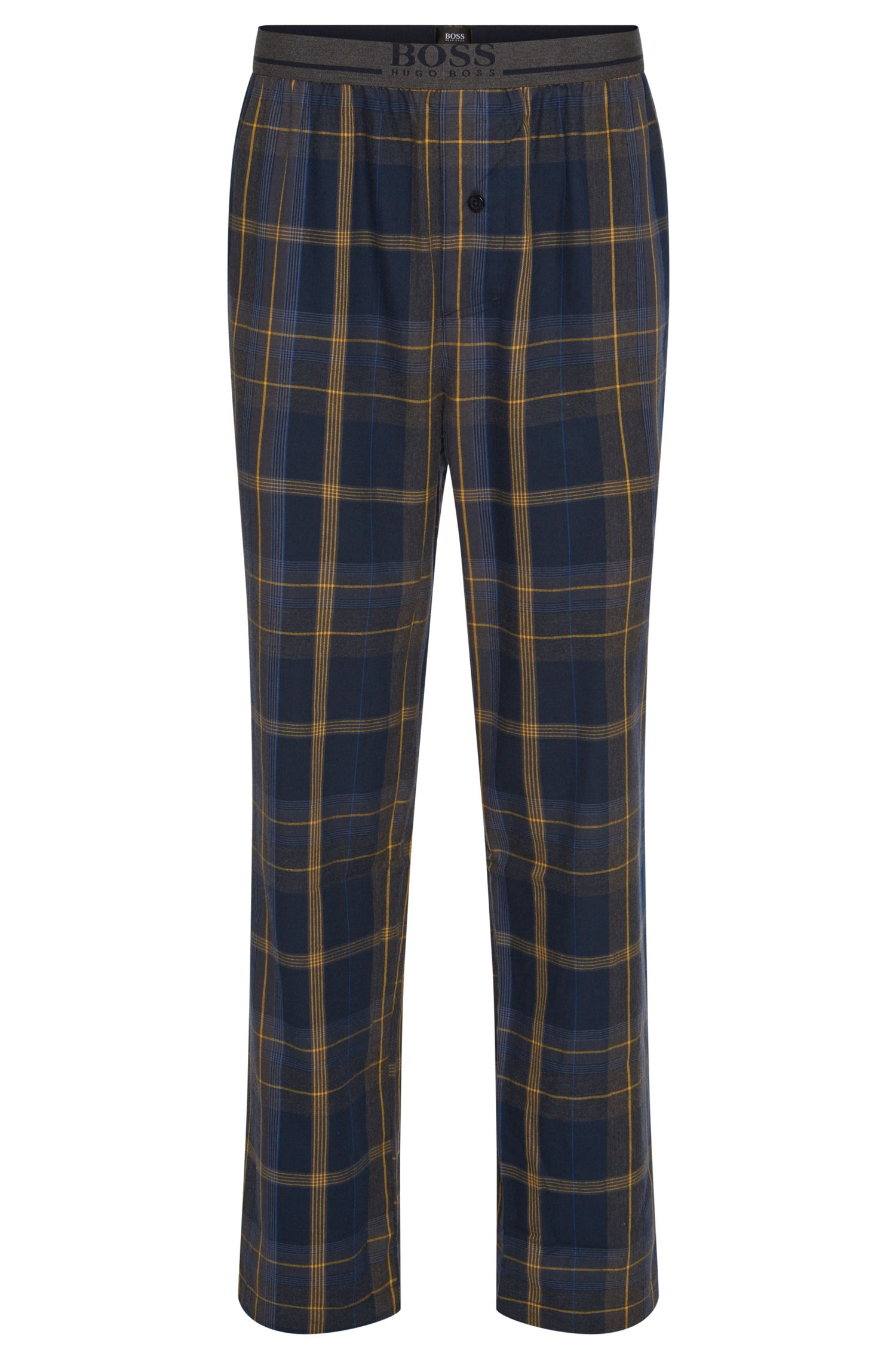 Checked pyjama bottoms in pure cotton: 'Long Pant EW'