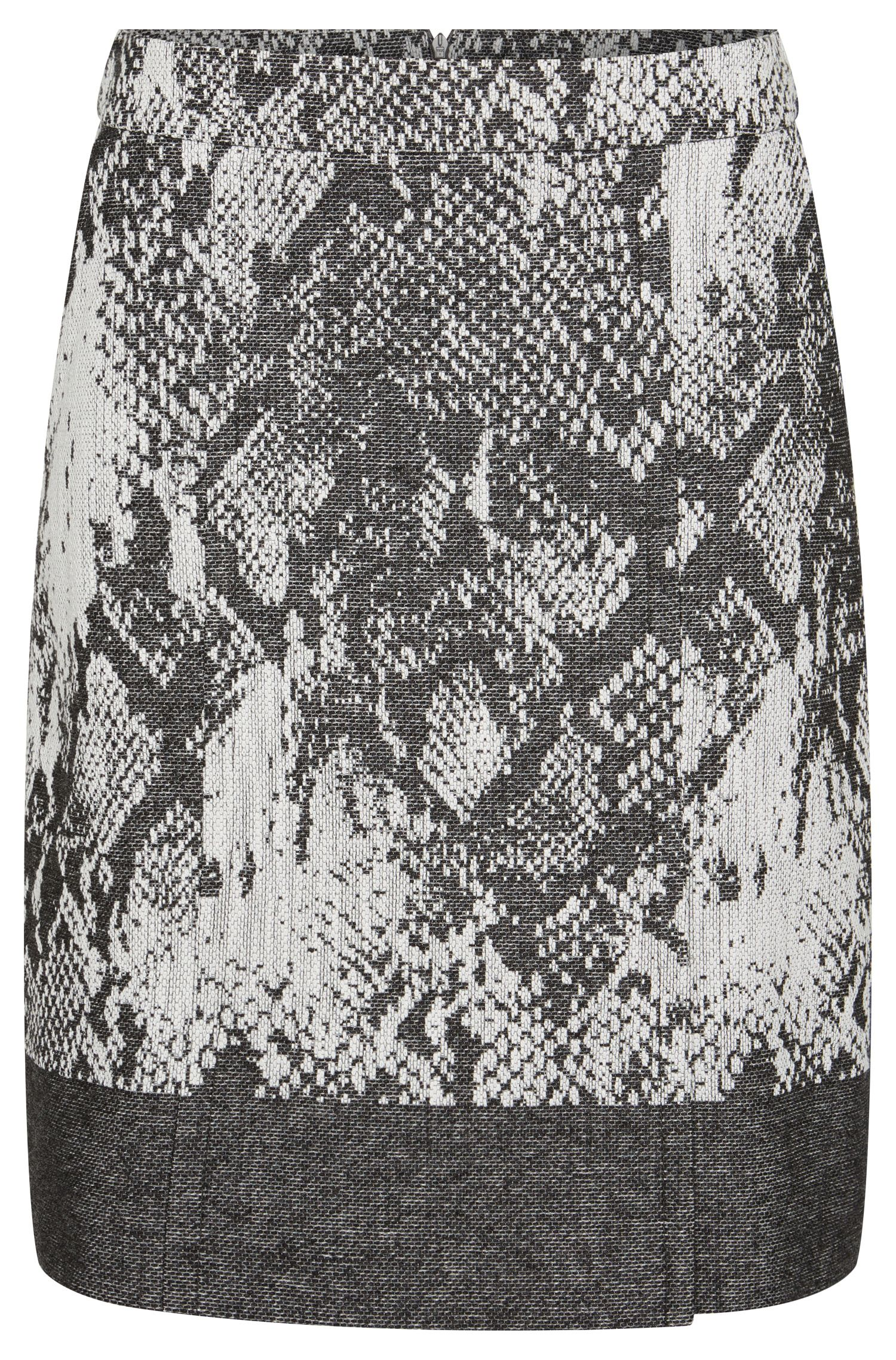 Patterned skirt in cotton blend with new wool: 'Vaneki'
