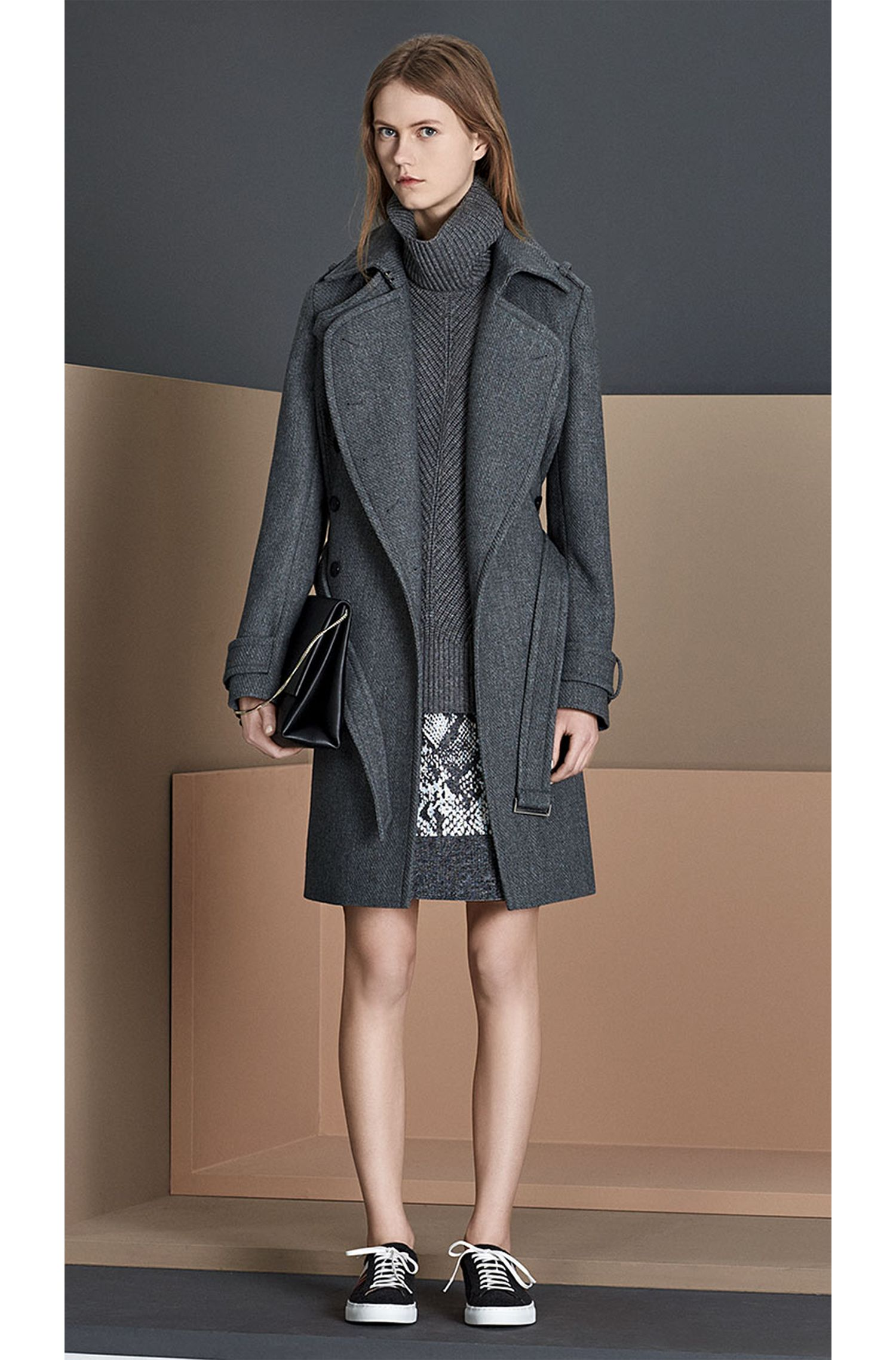 Jupe à motif en coton mélangé avec de la laine vierge: «Vaneki»