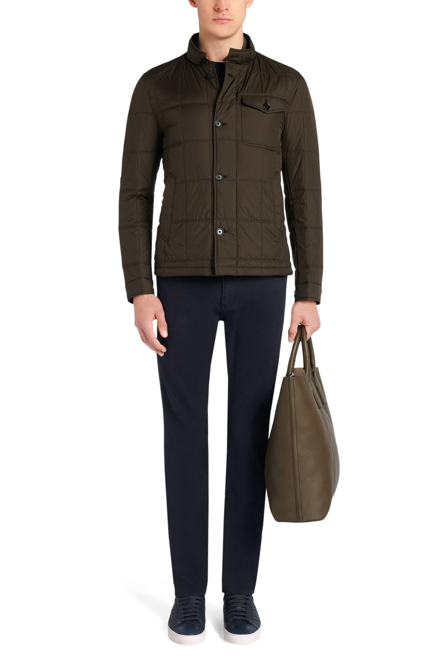 Strukturierte Slim-Fit Hose aus Stretch-Baumwolle: 'Delaware3-20'