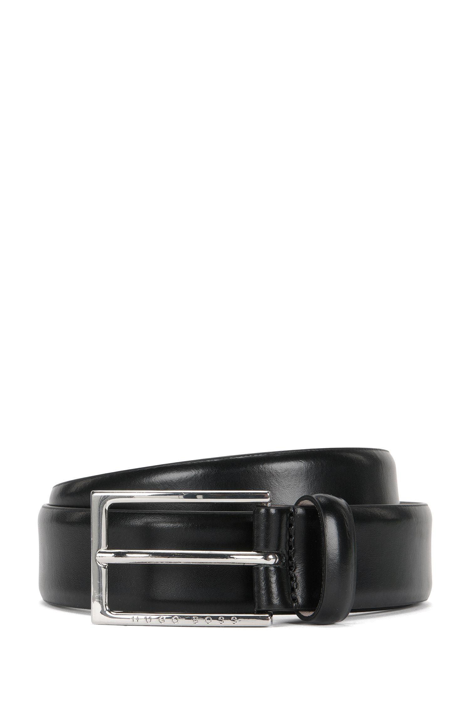 Leather belt with matt finish: 'Ced_Sz30_ltpl'
