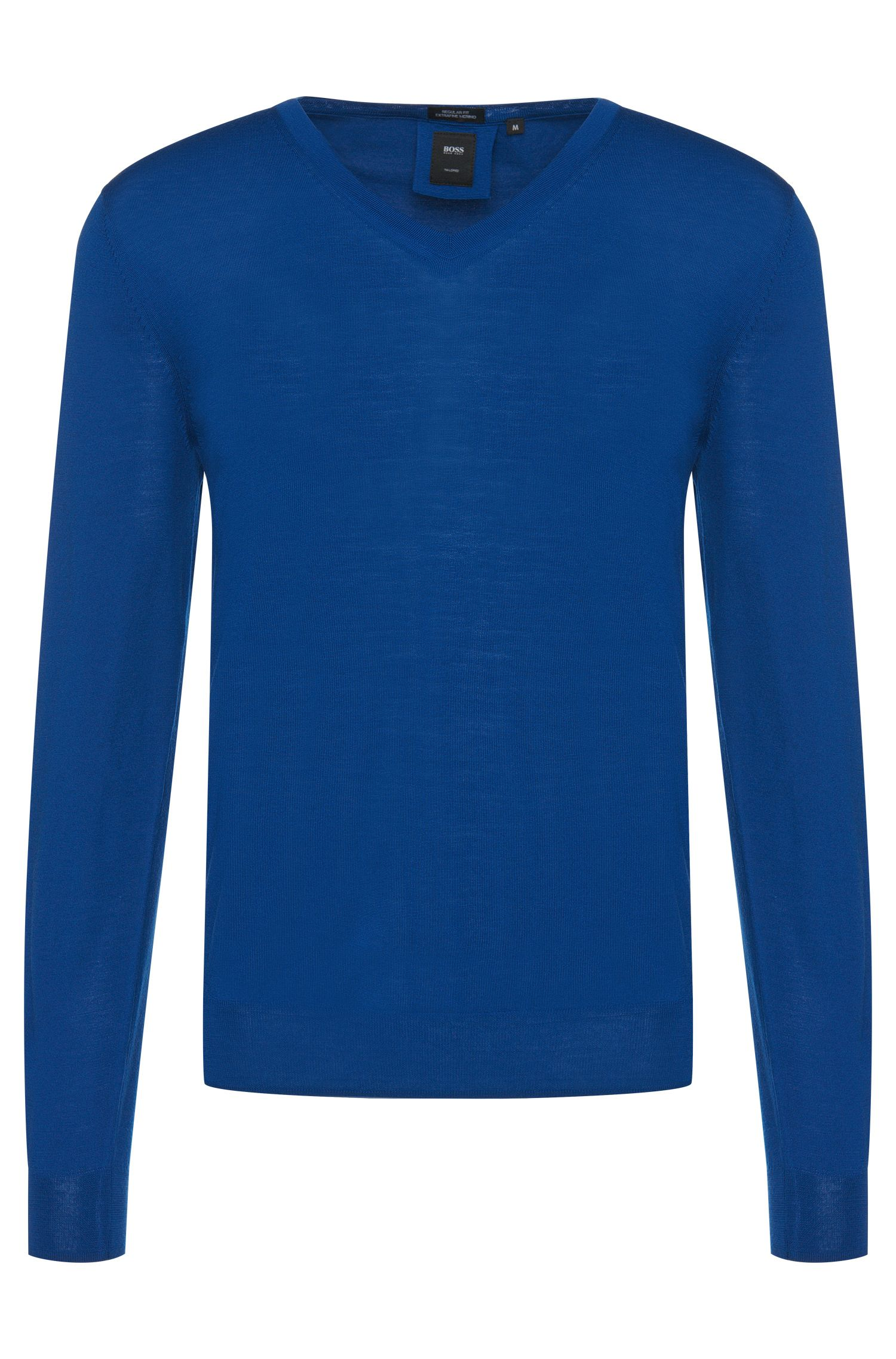 Regular-Fit Tailored Pullover aus Schurwolle: T-Bodo'