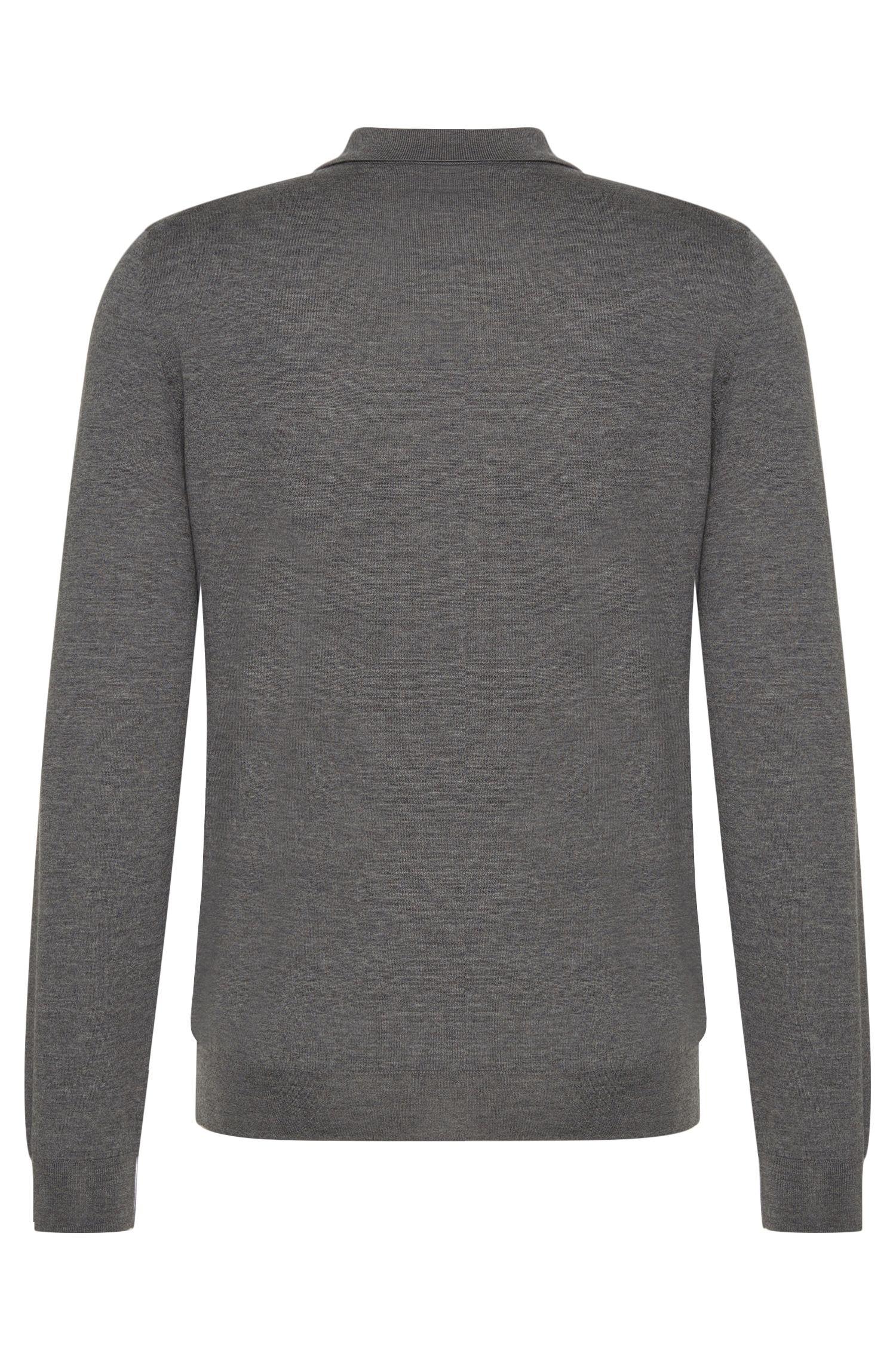 Regular-Fit Tailored-Pullover aus Schurwolle mit Klappkragen: 'T-Bertone'