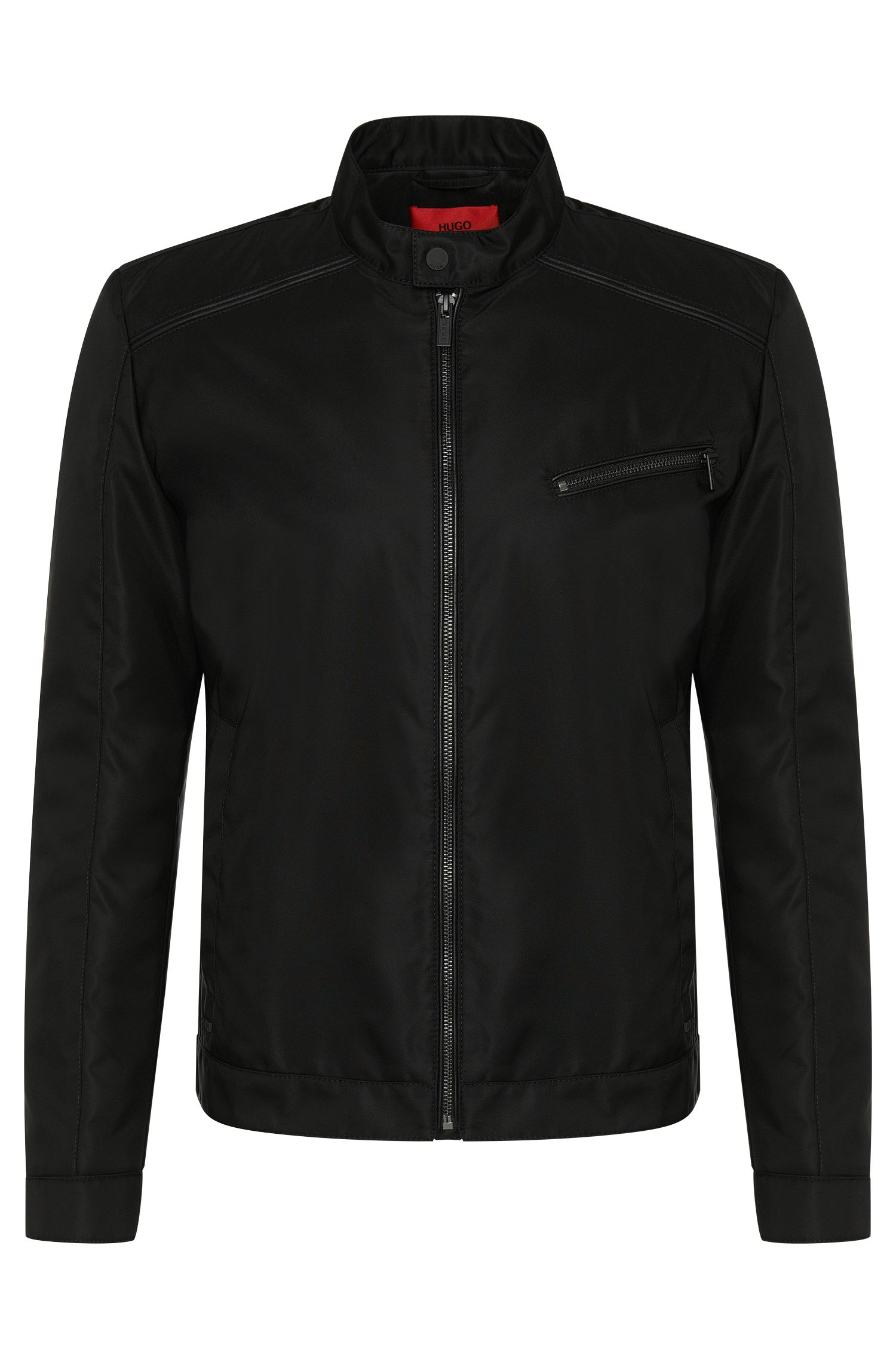 Jacket in biker style with leather-effect details: 'Bandro'