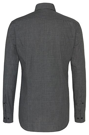 Chemise Slim Fit en coton facile à repasser, au motif à carreaux: «C-Jero», Anthracite