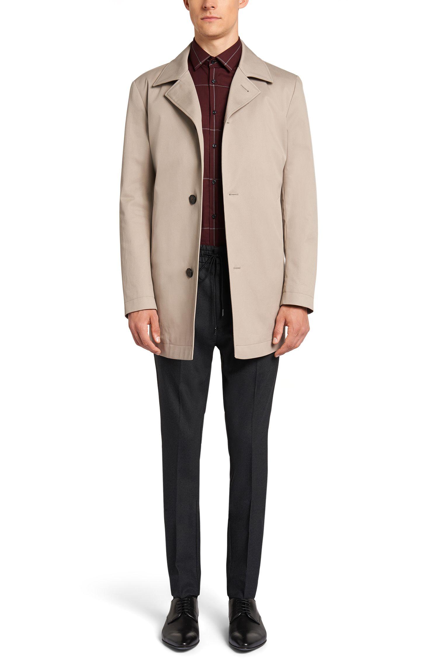 Slim-Fit Hemd aus bügelleichter Baumwolle mit Karo-Muster: 'C-Jero'