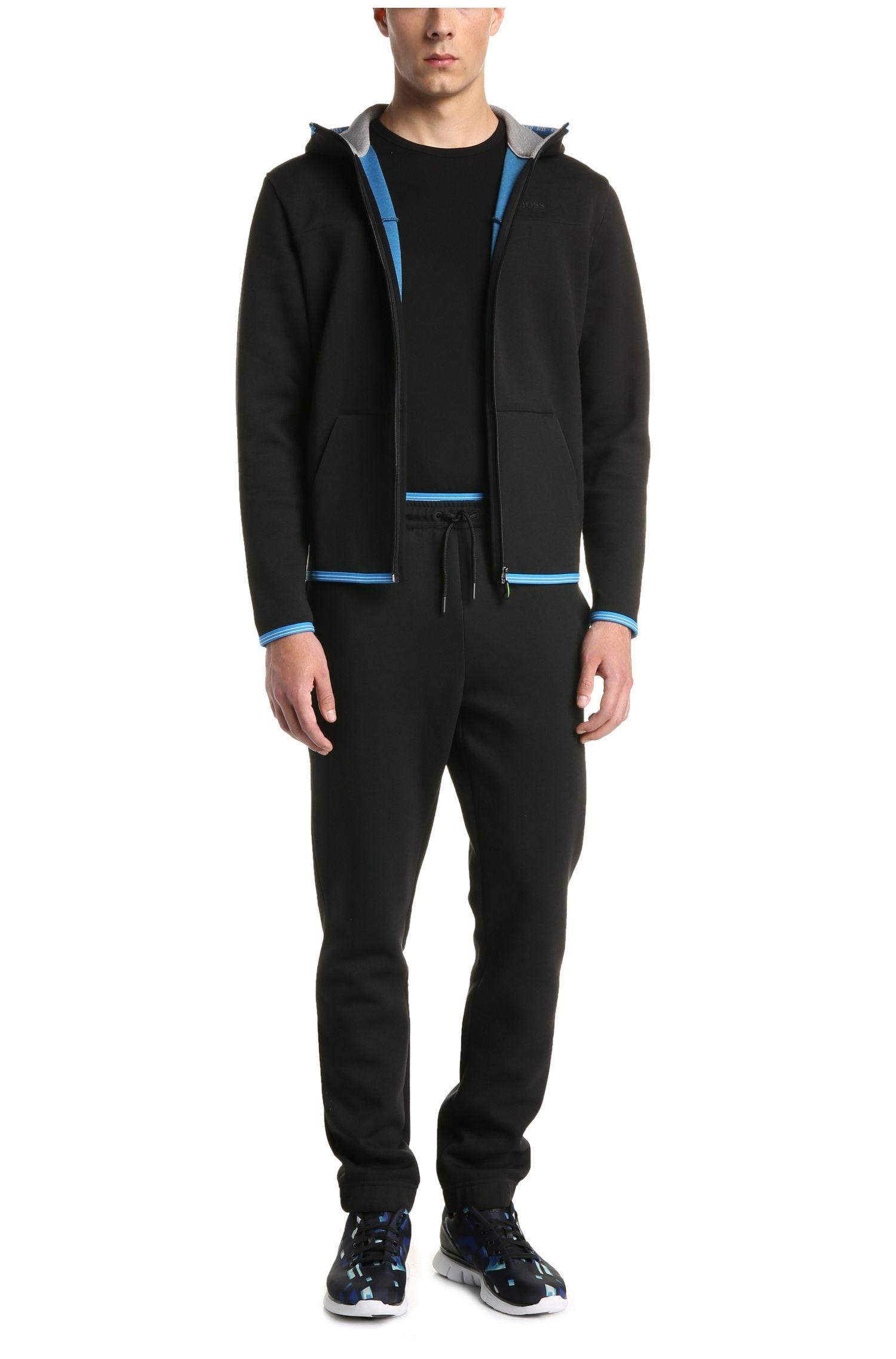 Pantalon avec cordon de serrage sous tunnel Comfort Fit en coton mélangé: «Heacho»