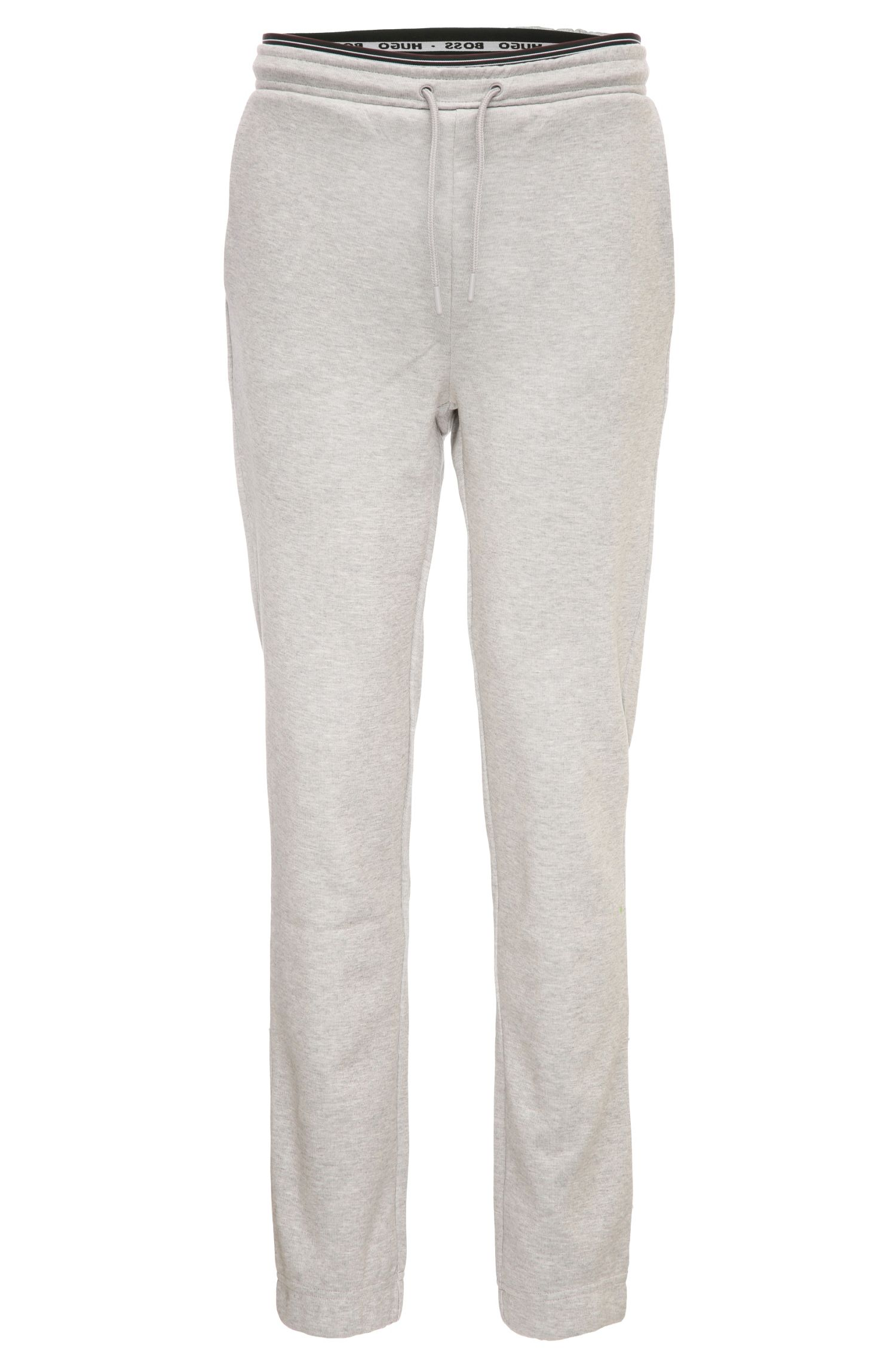 Comfort-fit drawstring trousers in cotton blend: 'Heacho'