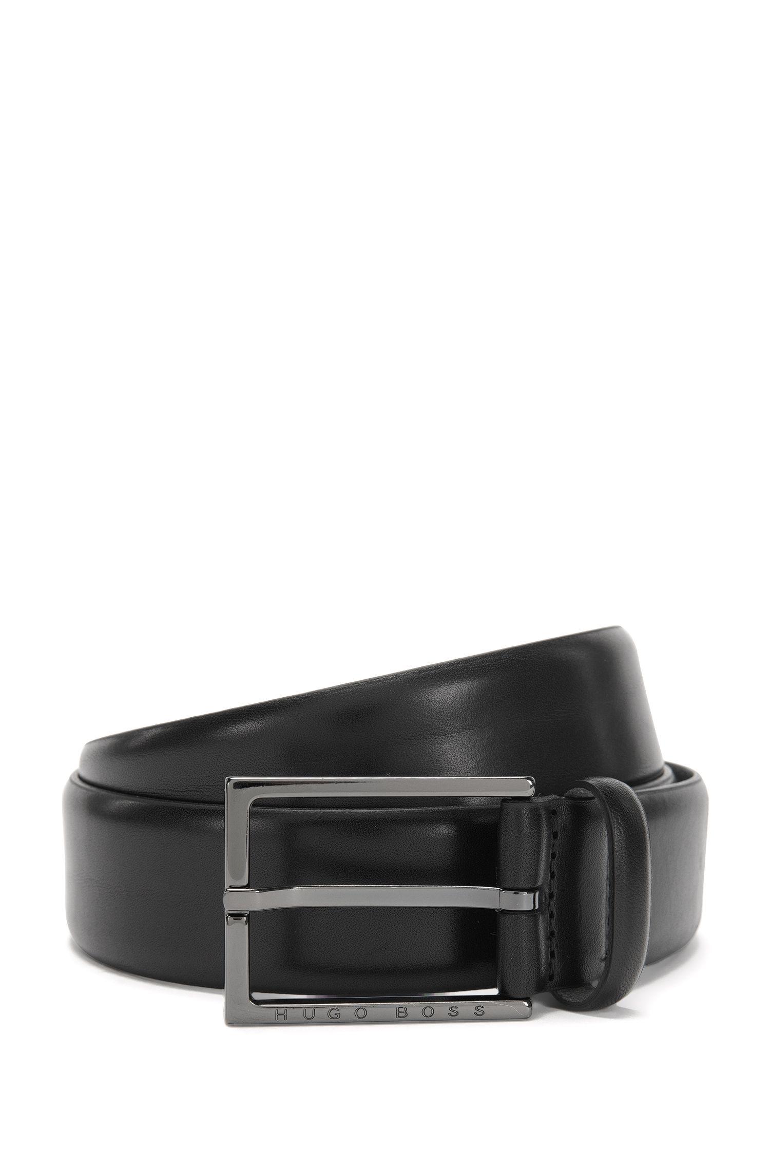Gürtel aus Leder mit Lochmuster-Detail: 'Callix_Sz35_ltbg'