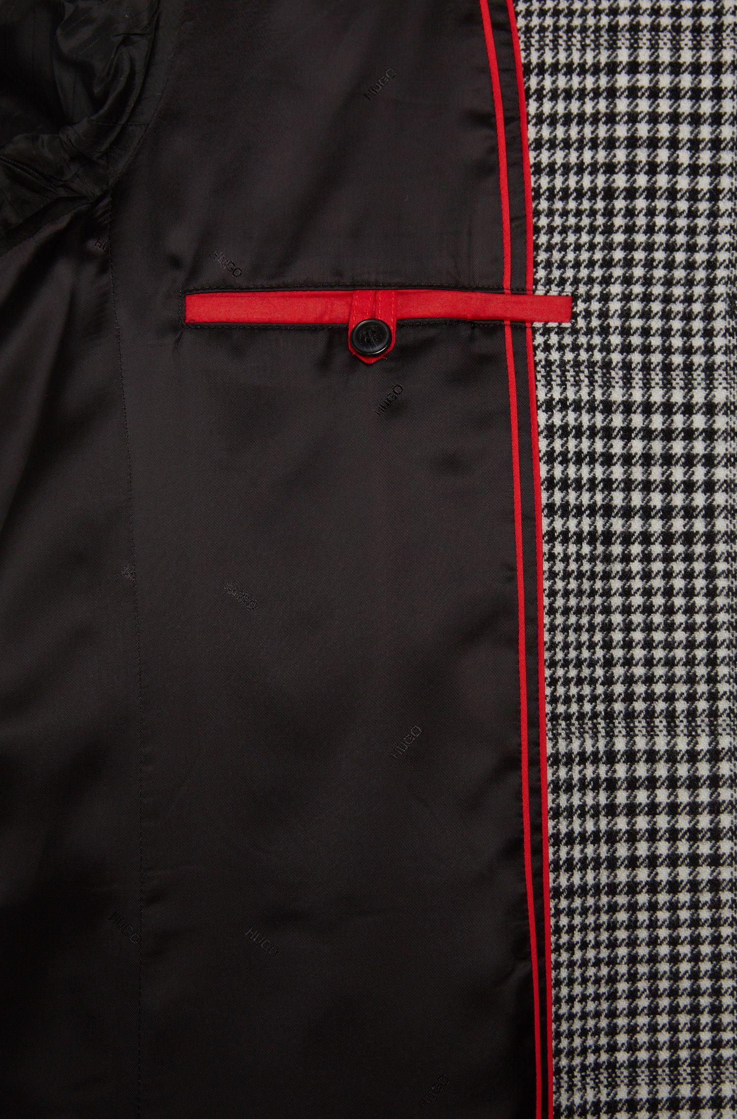 Regular-Fit Mantel mit Hahnentritt-Muster: 'Migor2'