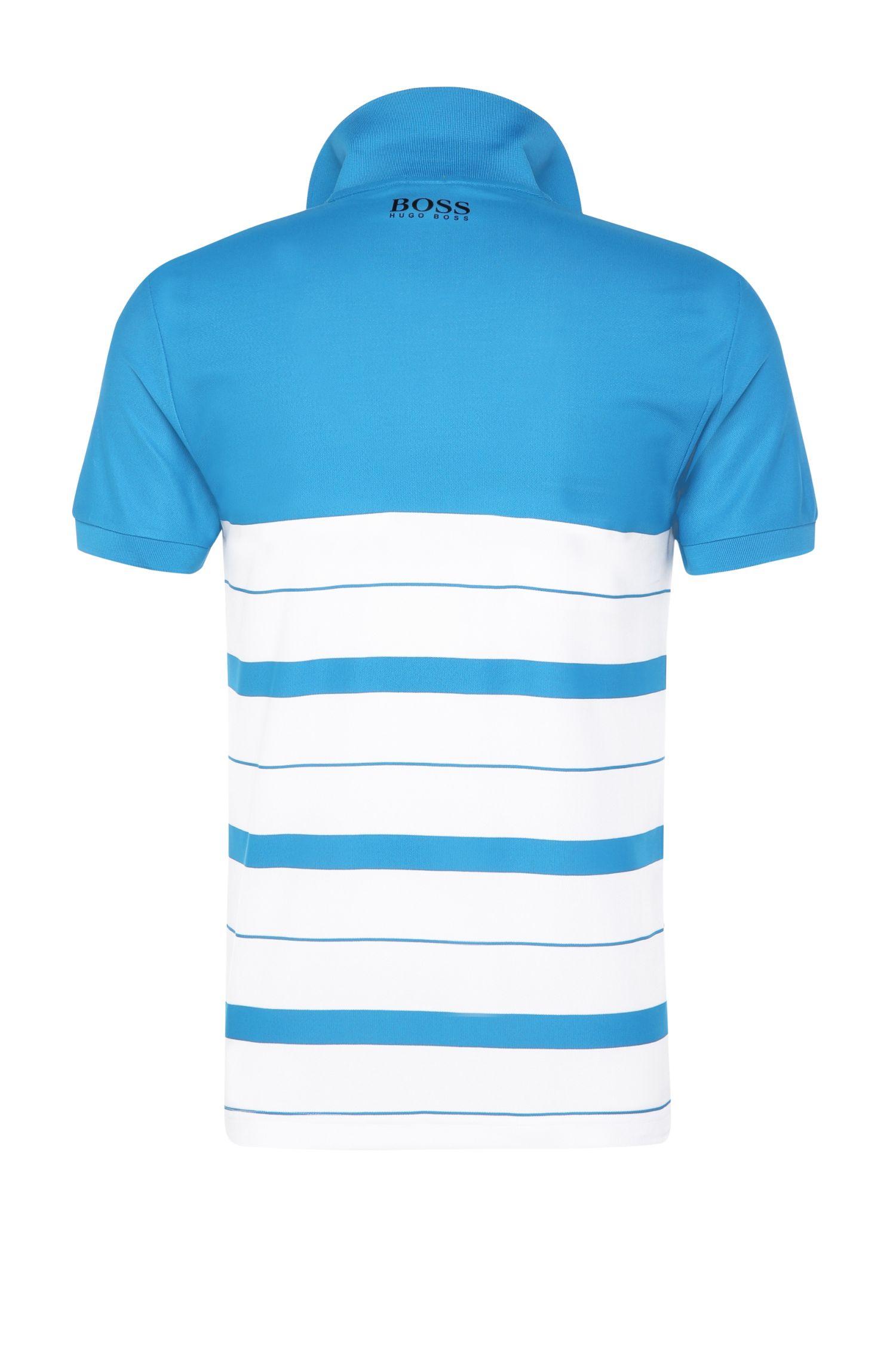 Slim-Fit Polo aus Funktions-Textil mit Querstreifen: ´Paule Pro 1`