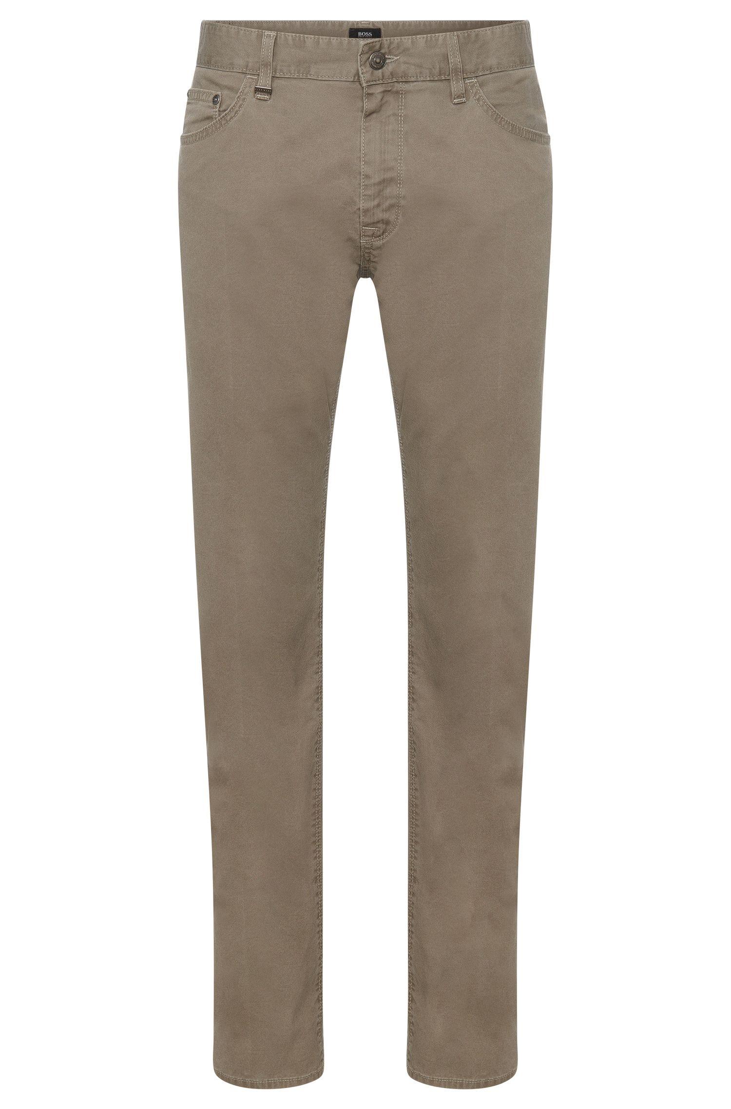 Effen, regular-fit broek van stretchkatoen: 'Maine3-20'