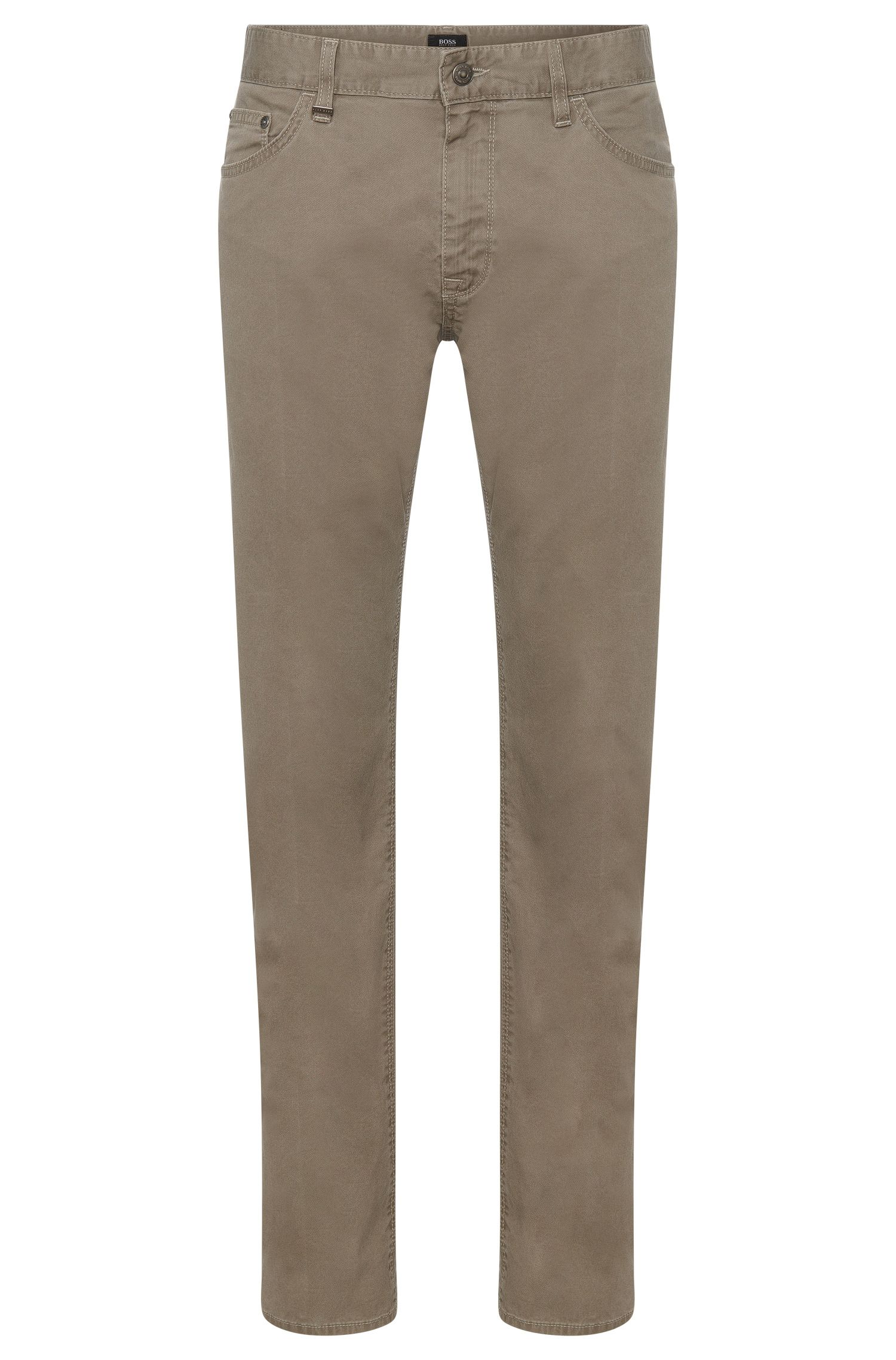 Unifarbene Regular-Fit Hose aus Stretch-Baumwolle: 'Maine3-20'