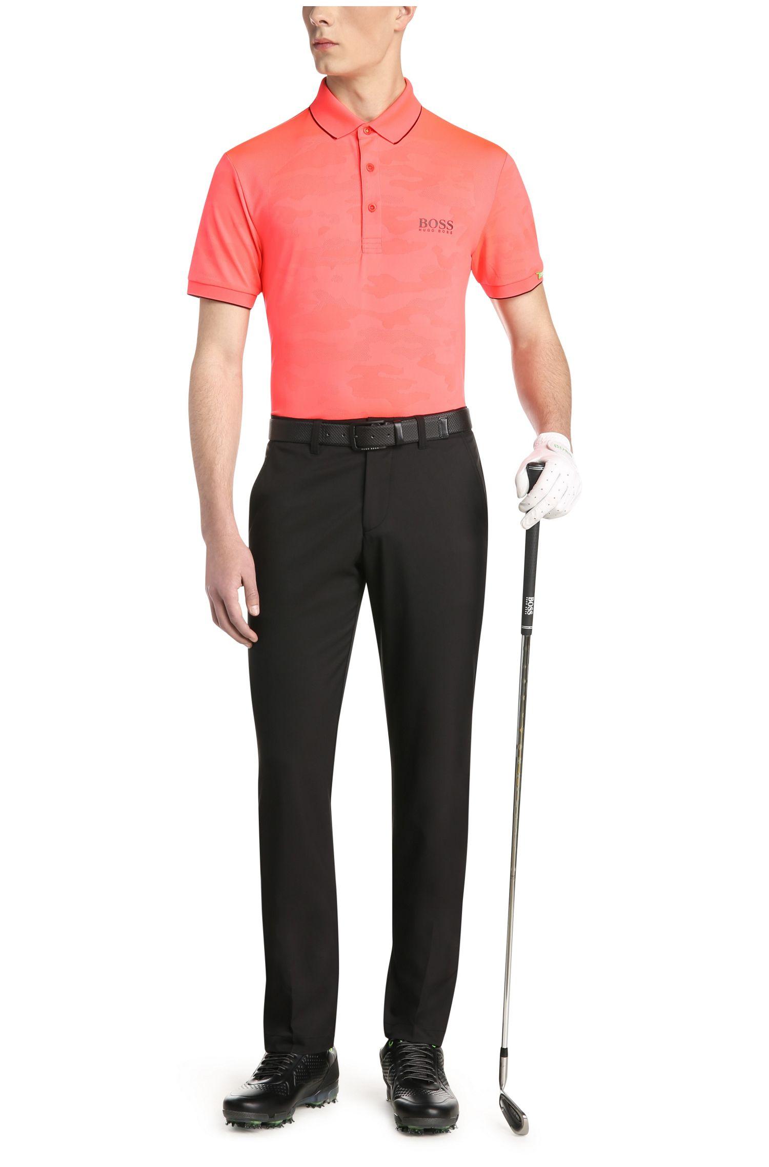 Polo de golf Regular Fit en mélange de matières extensible à la texture camouflage: «Paddy MK 2»