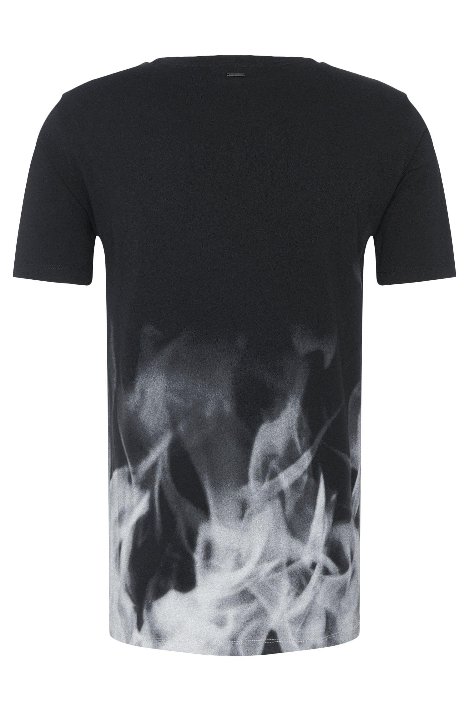 T-shirt Regular Fit en coton orné d'un dégradé de couleurs: «Dmoke»