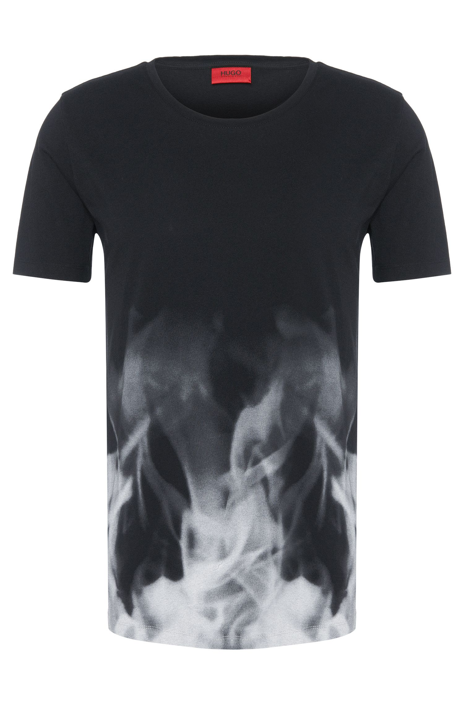 T-shirt Regular Fit en coton orné d'un dégradé de couleurs : « Dmoke »