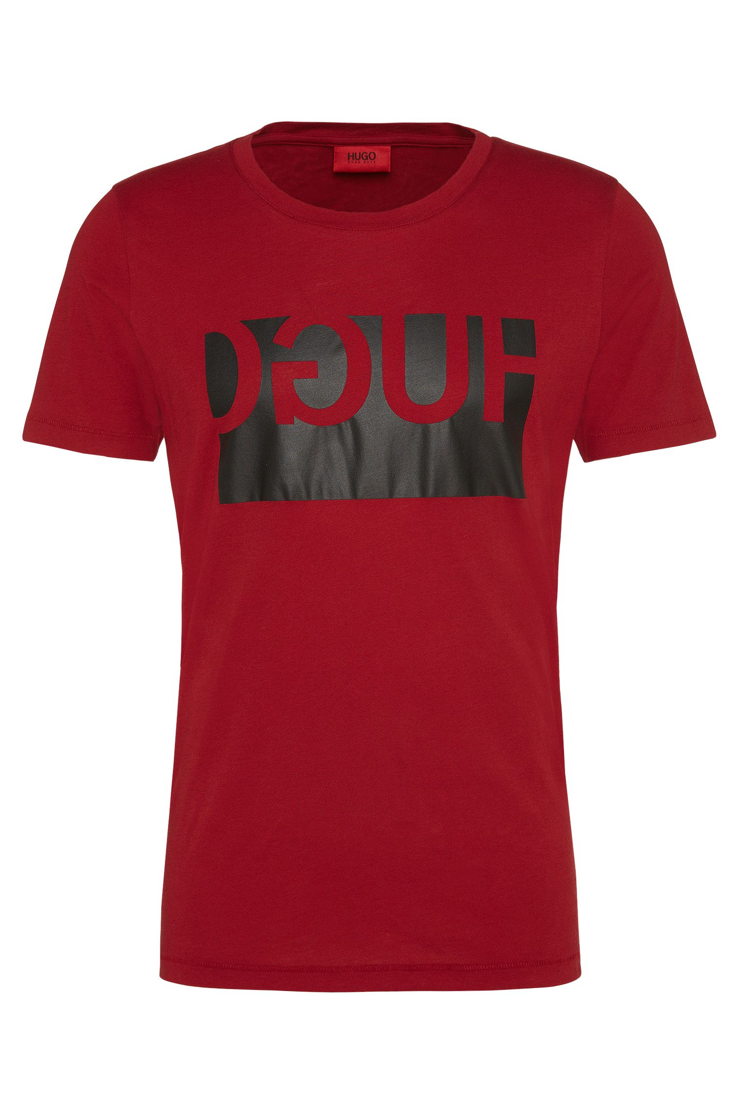 Regular-Fit T-Shirt aus Baumwolle mit Print: 'Doguh'