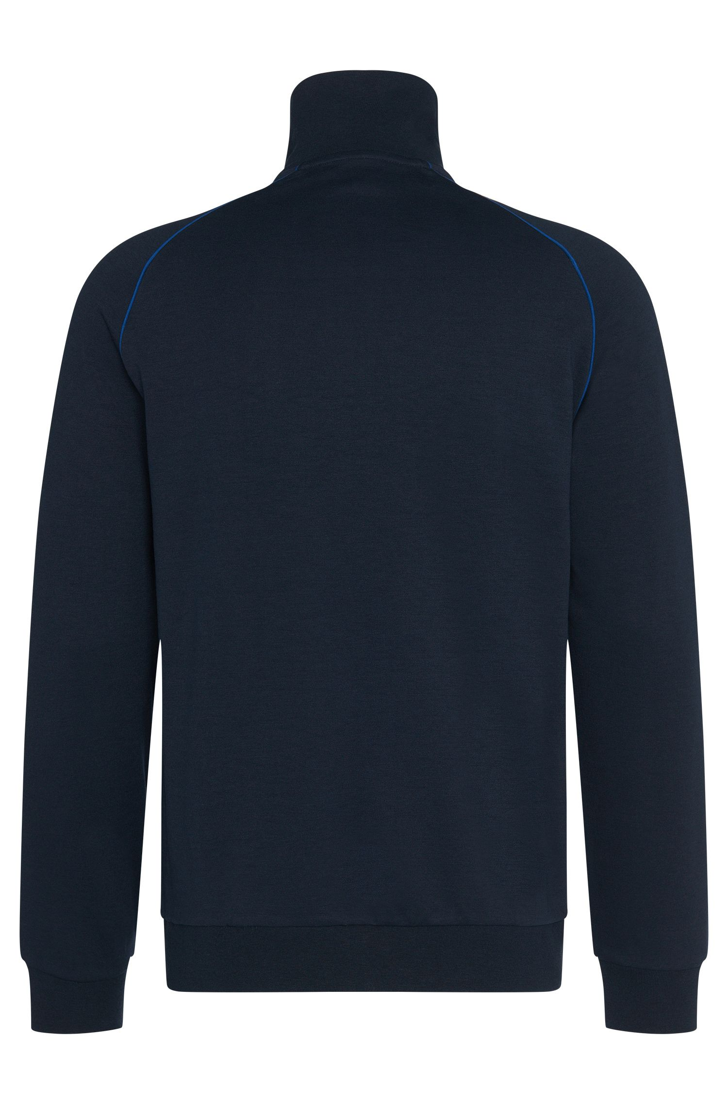 Blouson sweat en coton mélangé à passepoils de couleur contrastante: «Jacket Zip»