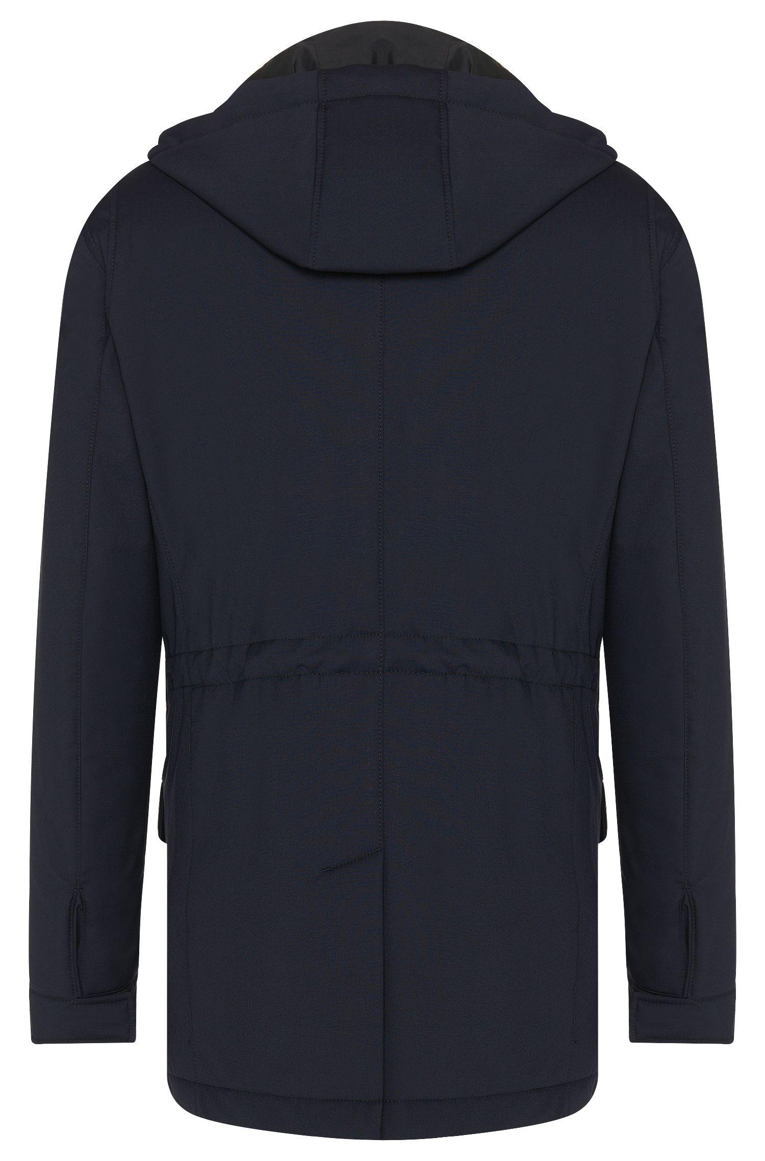 Parka Tailored imperméable en laine vierge avec gilet amovible: «T-Cale»