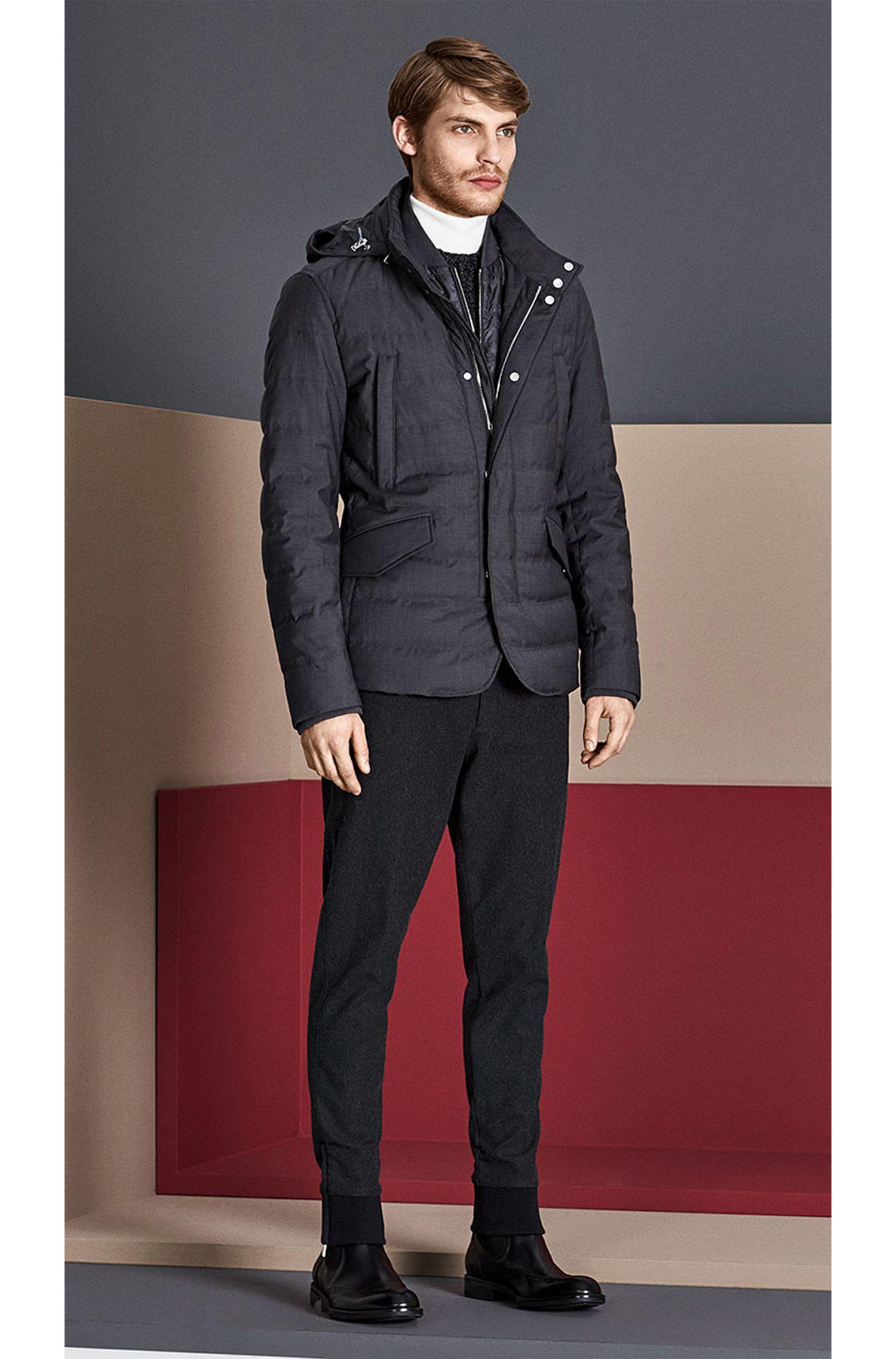 Blouson doudoune Tailored imperméable à empiècement zippé amovible: «T-Darkin»