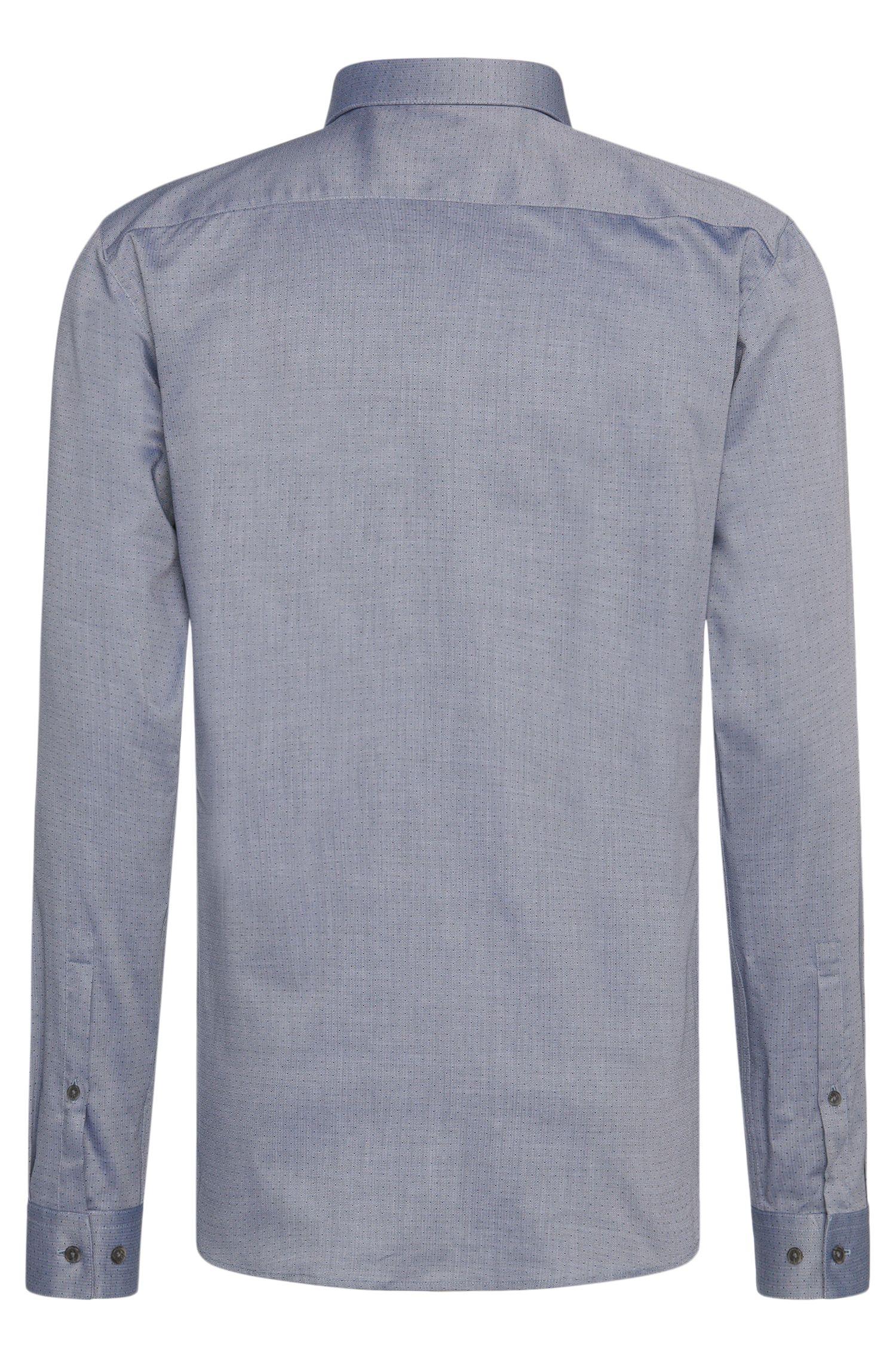 Chemise Slim Fit en coton à motif et col italien: «Erondo»