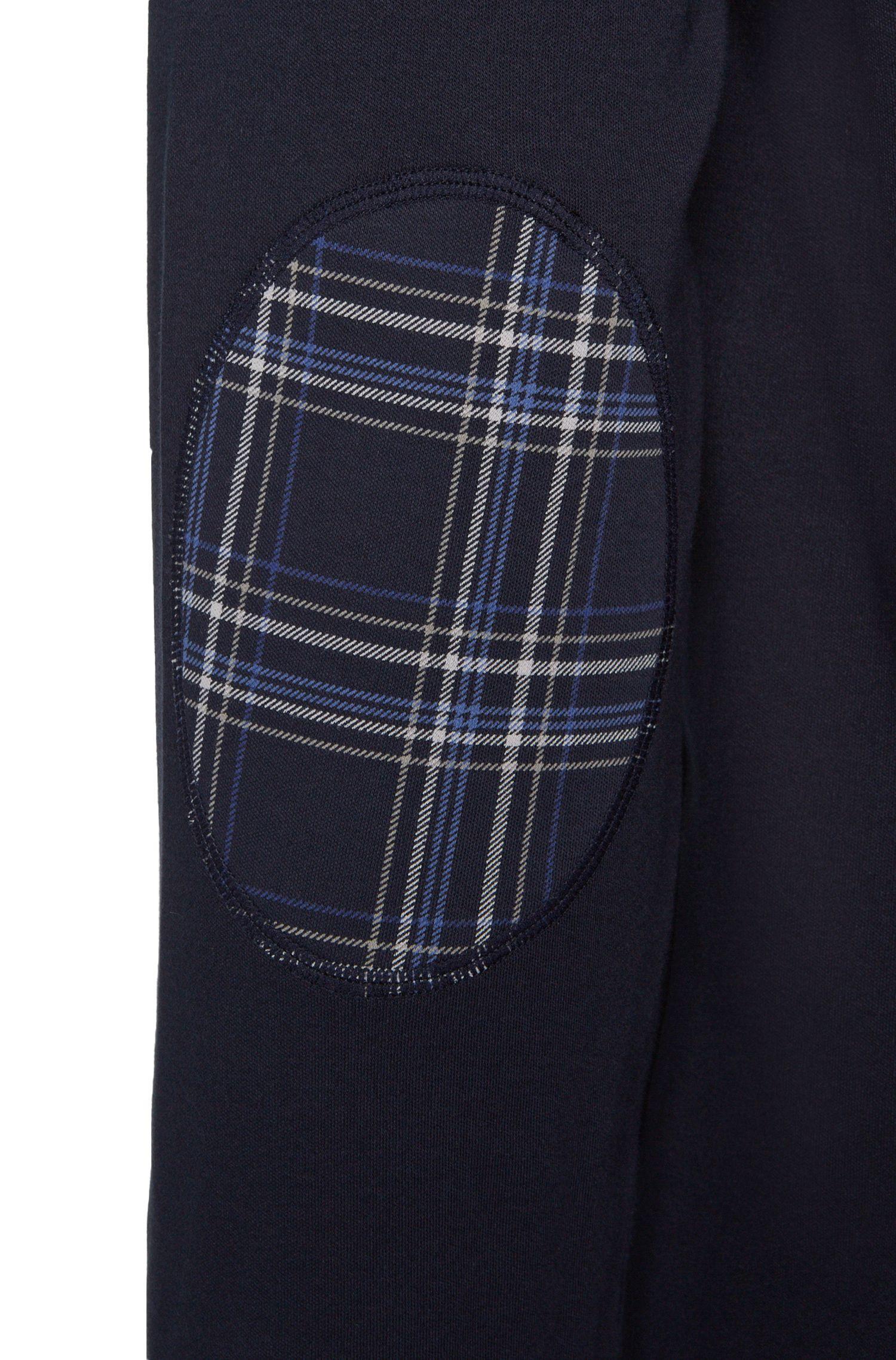 Pyjama en coton extensible avec pantalon à carreaux: «Set Long»