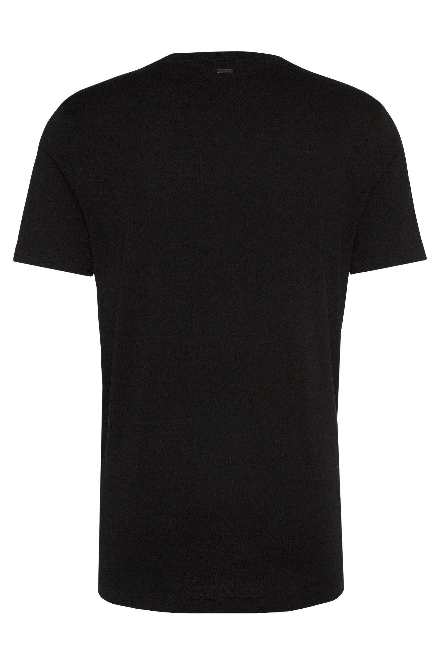 T-shirt Loose Fit en coton à motif rose imprimé: «Dafiosi»