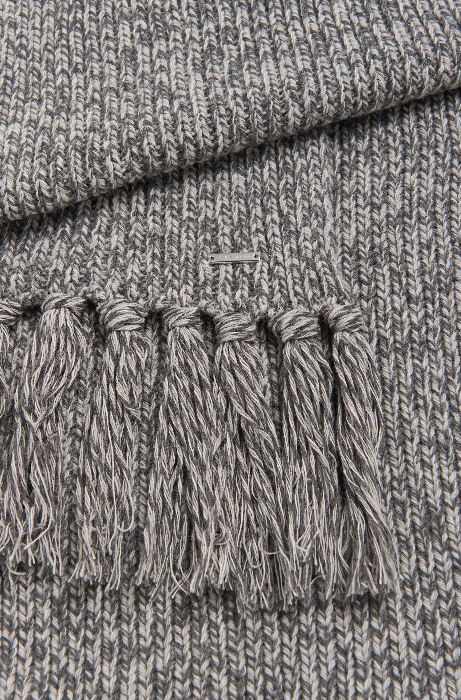 Tailored-Schal aus Kaschmir-Mix mit Fransen: 'T-Bassetto'