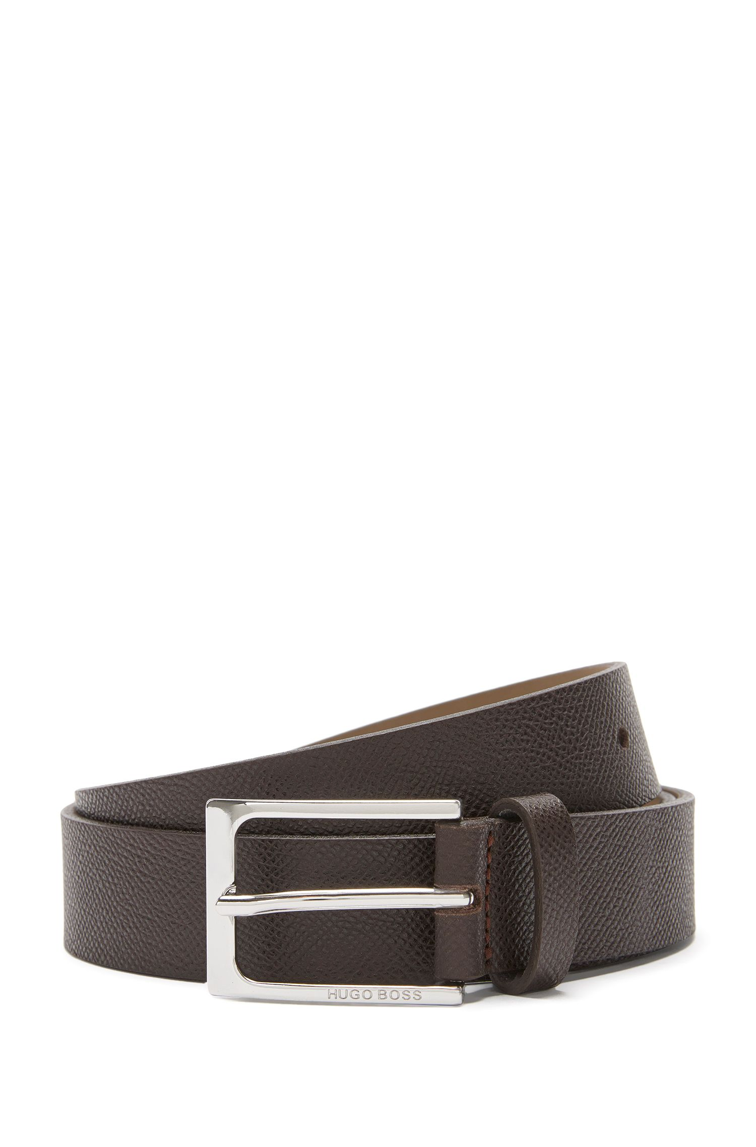 Belt in embossed leather with pin buckle: 'Cary_Sz30_ltem'