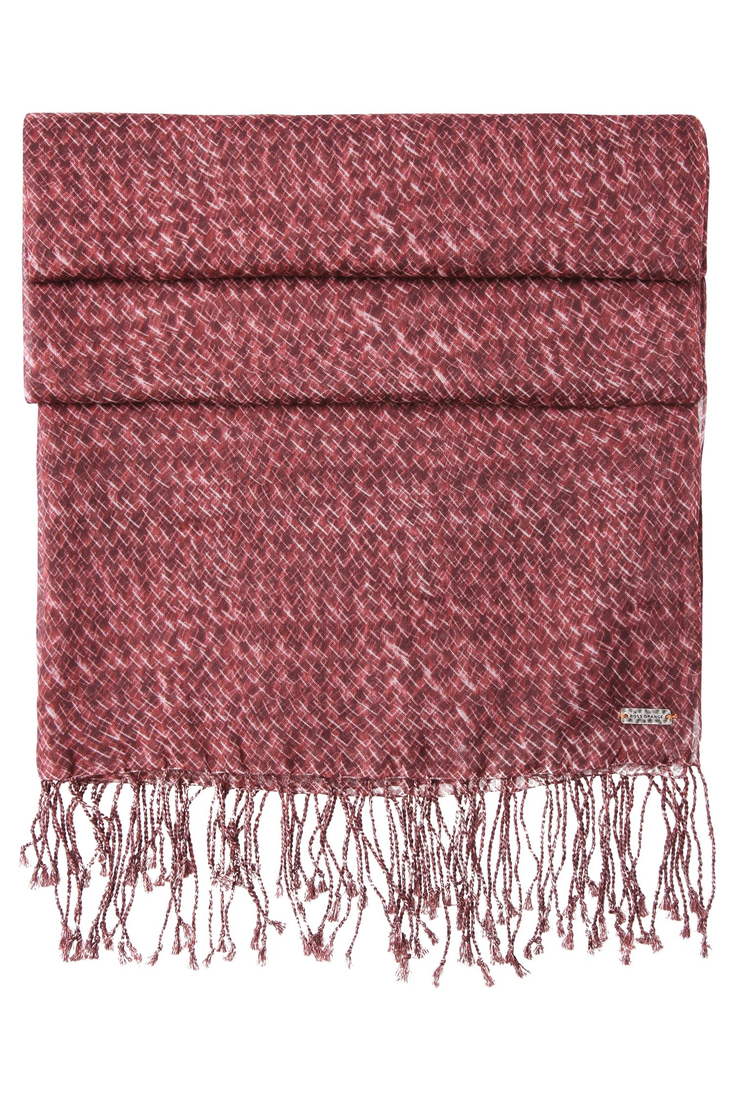 Patterned scarf in cotton blend with modal: 'Naray'