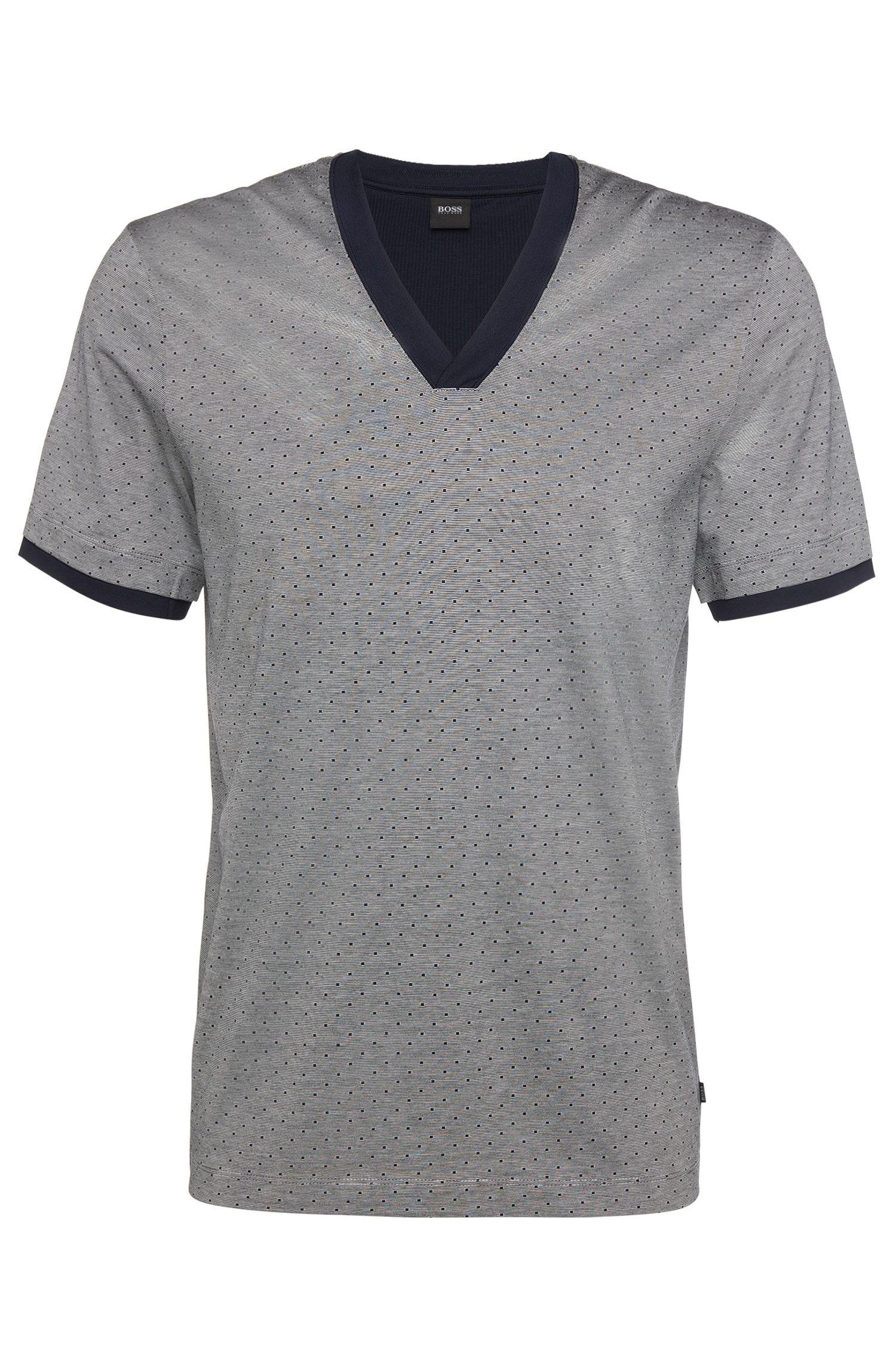 Gestreiftes Pyjama-T-Shirt aus reiner Baumwolle: 'T-Shirt VN'