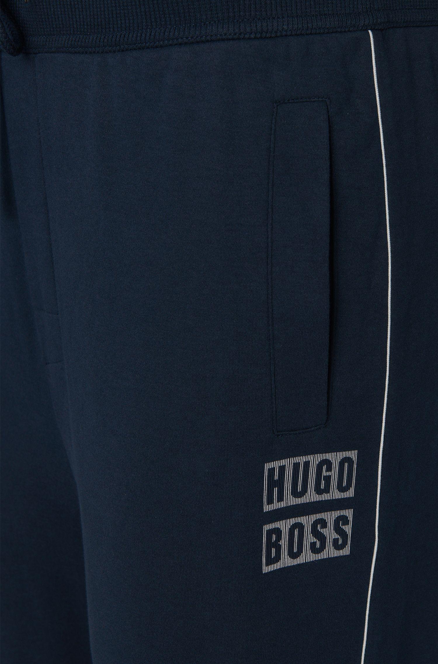 Unifarbene Jogginghose aus Baumwolle: 'Long Pant Cuffs'