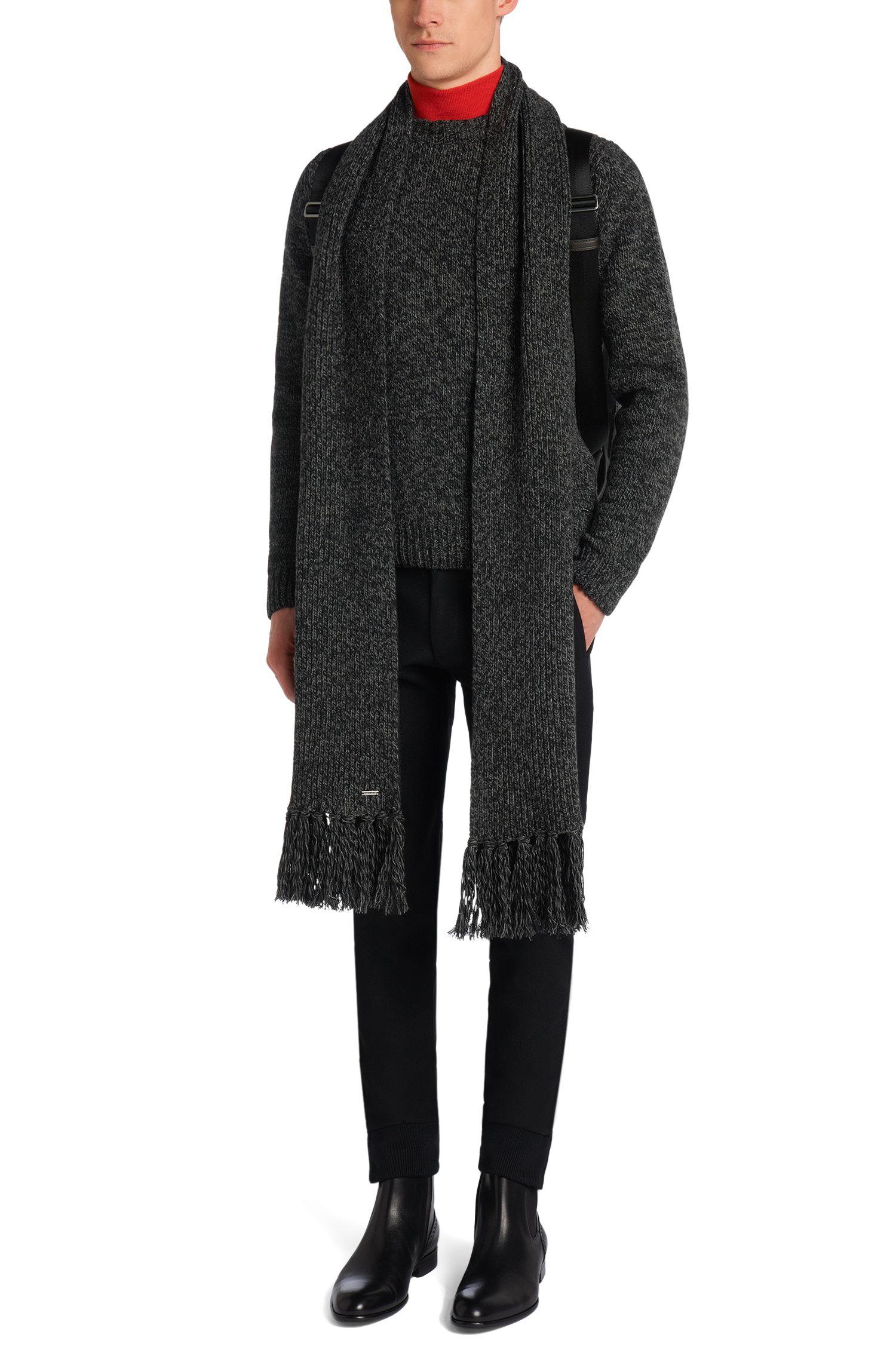 Gemêleerde trui van een kasjmiermix uit de Tailored-collectie: 'T-Bianchi'