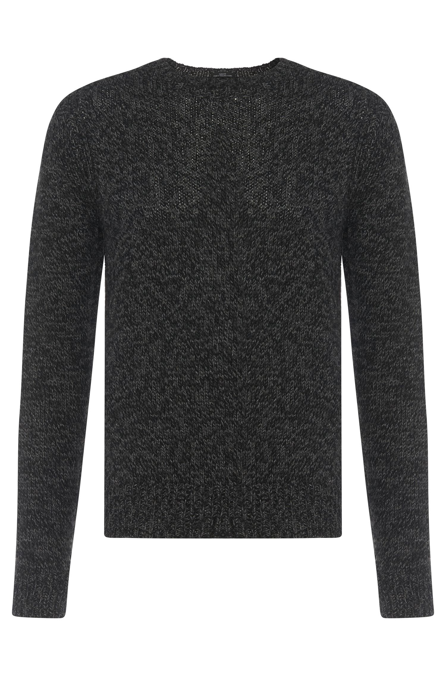 Mottled cashmere blend Tailored sweater: 'T-Bianchi'