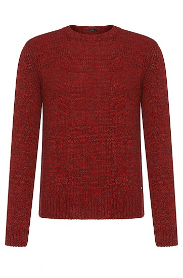 Mottled cashmere blend Tailored sweater: 'T-Bianchi', Light Red