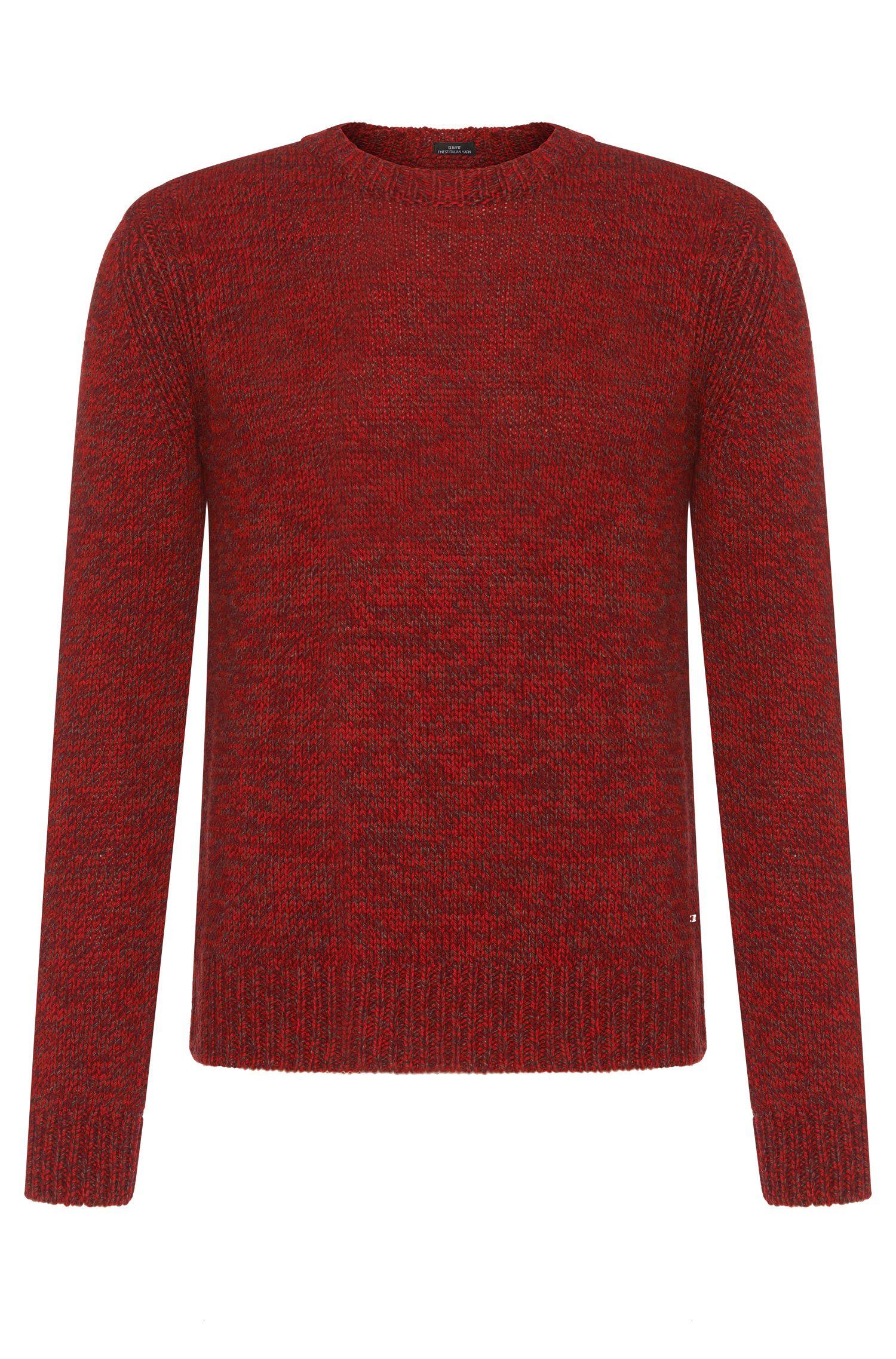 Melierter Tailored Pullover aus Kaschmir-Mix: 'T-Bianchi'